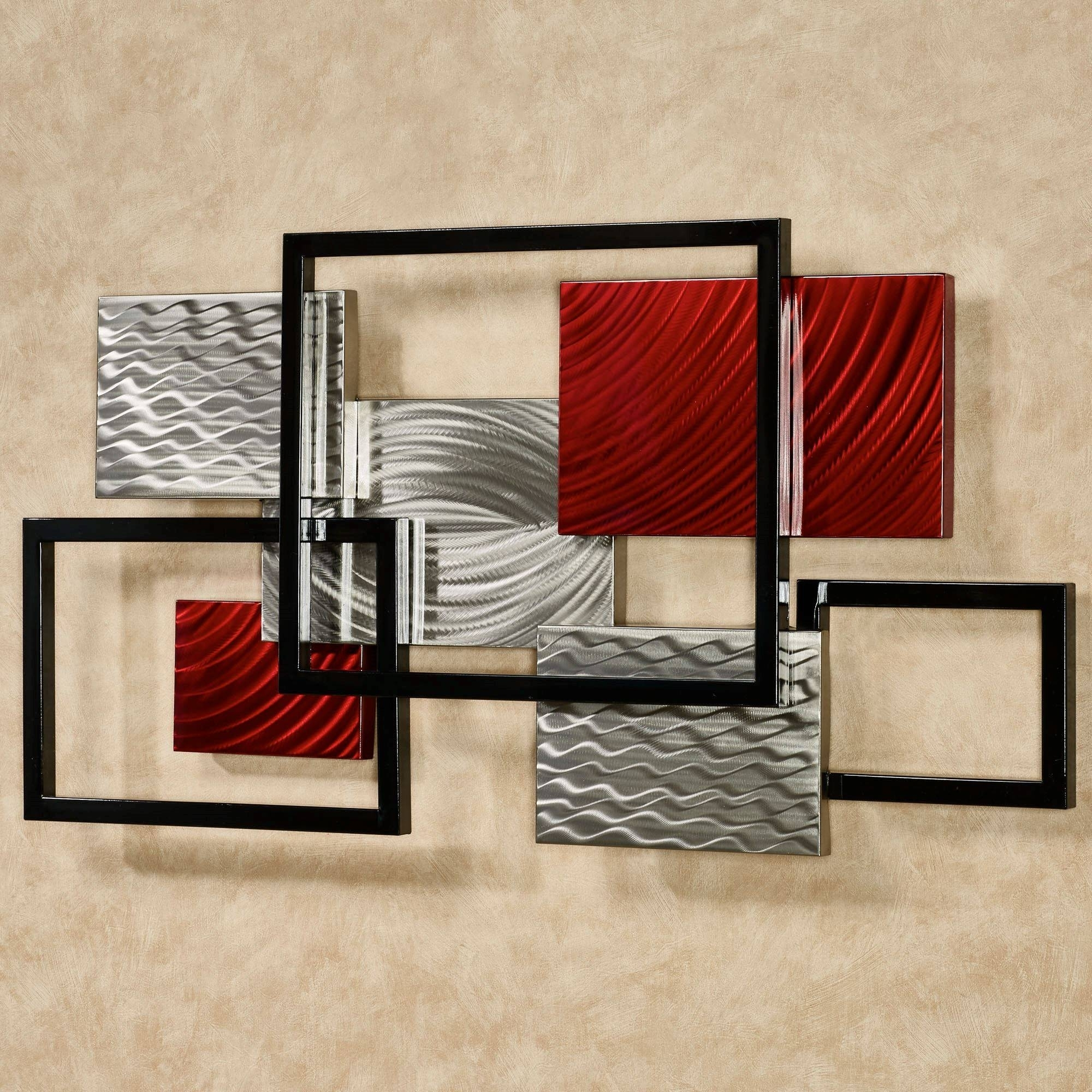 Framed Array Indoor Outdoor Abstract Metal Wall Sculpture For Most in Modern Metal Wall Art (Image 5 of 20)