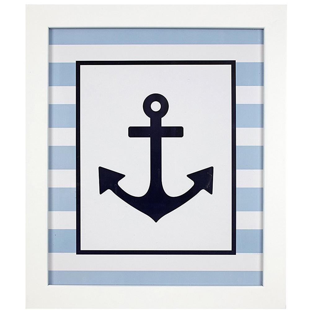 Framed Navy Anchor Wall Art | Carousel Designs within Anchor Wall Art (Image 9 of 20)