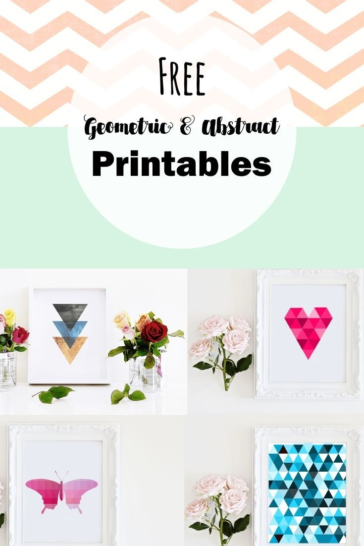 Free Geometric And Abstract Printable Wall Art (View 11 of 20)