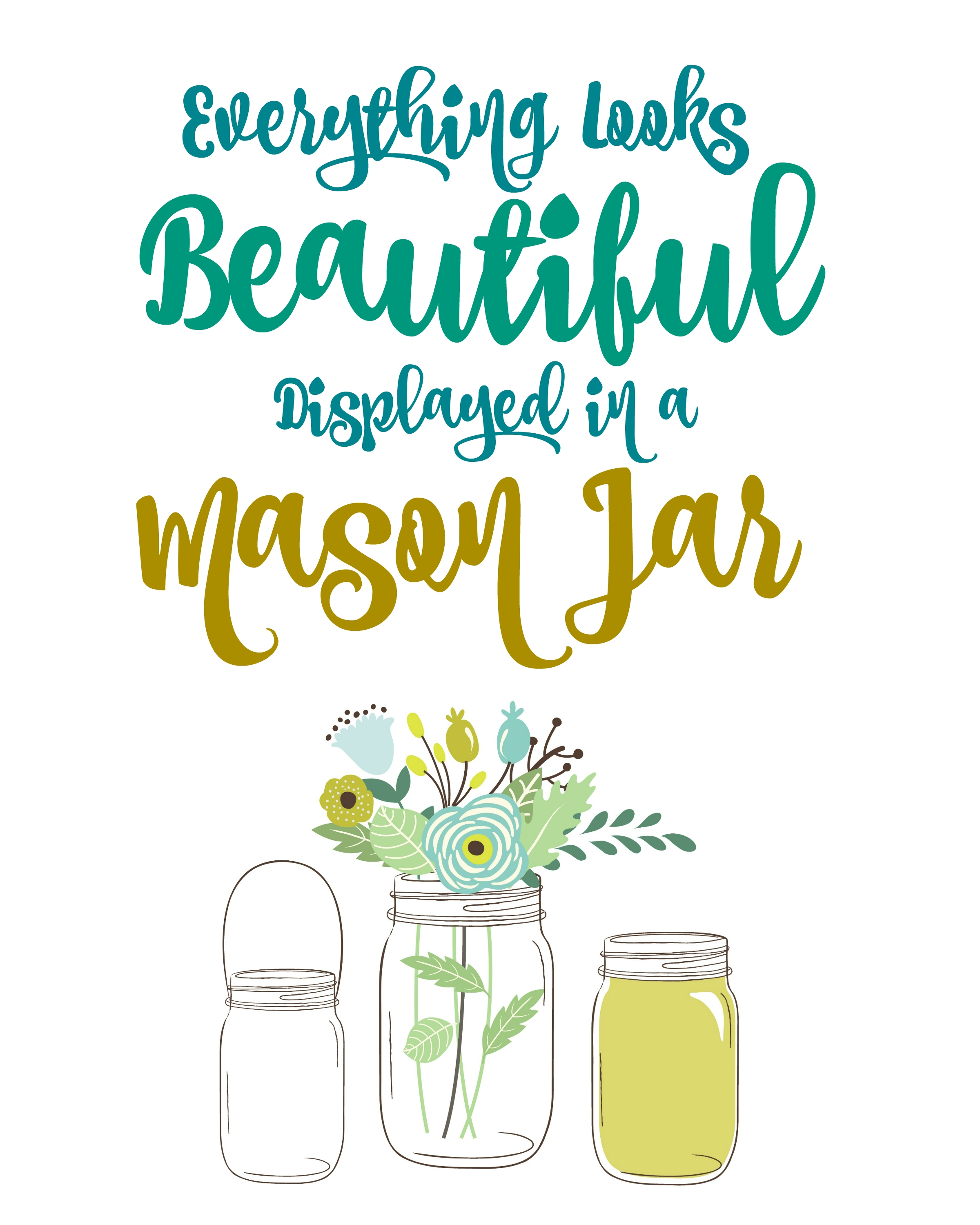 Free Mason Jar Printable Wall Art : Free Printables - The Homespun with regard to Free Printable Wall Art (Image 4 of 20)