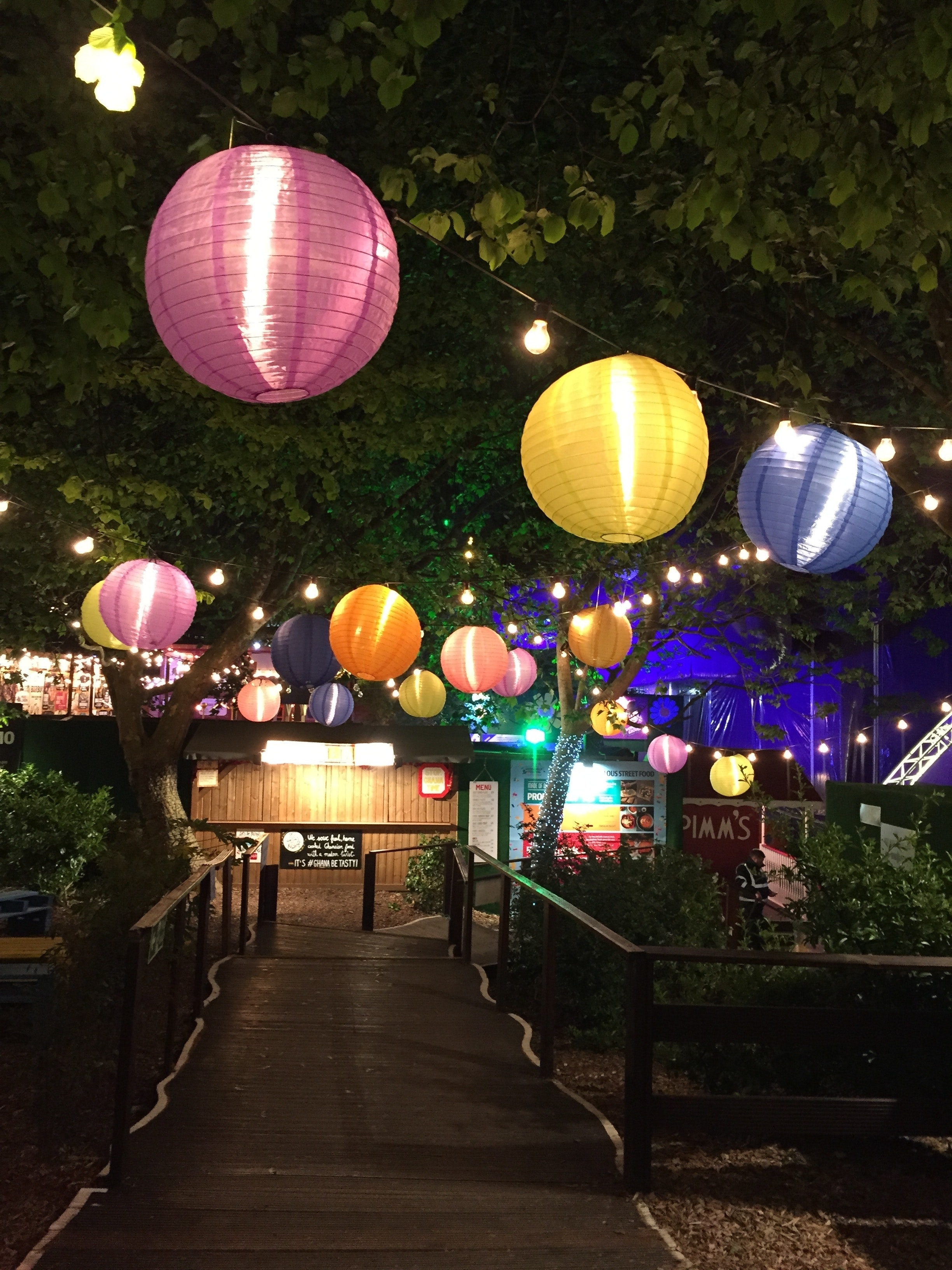 Free Photo: Assorted Hanging Paper Lamps - Paper Lanterns, Park in Outdoor Paper Lanterns (Image 12 of 20)