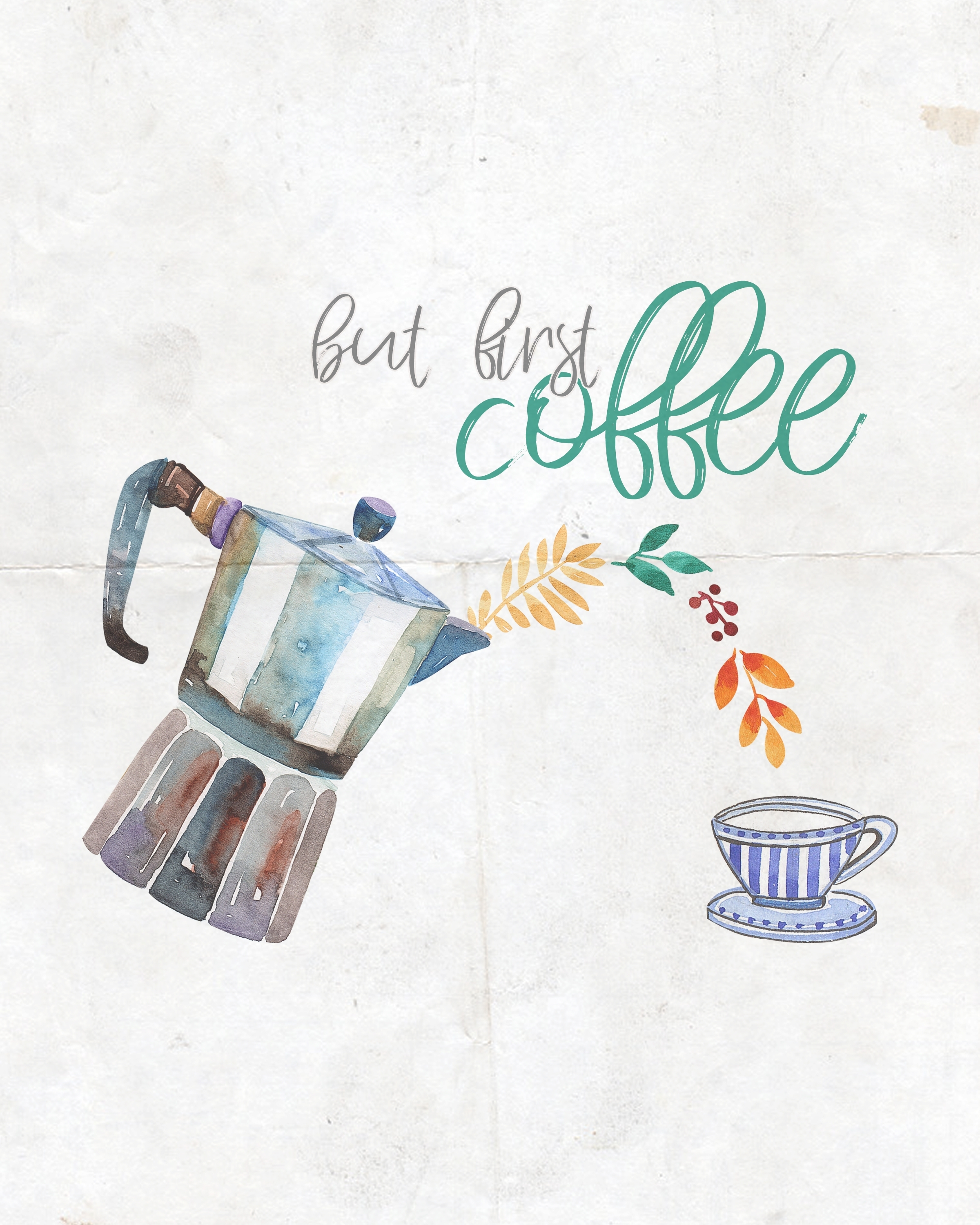Free Printable Farmhouse Coffee And Tea Wall Art Collection - The within Coffee Wall Art (Image 16 of 20)