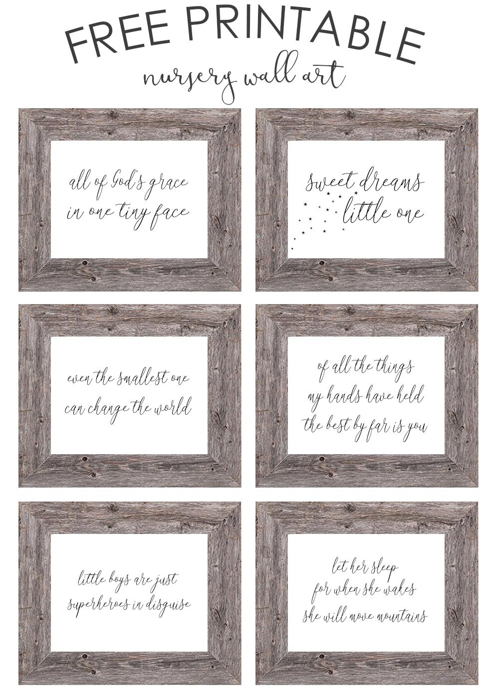 Free Printable Nursery Wall Art – The Girl Creative Throughout Free Printable Wall Art Decors (View 17 of 20)