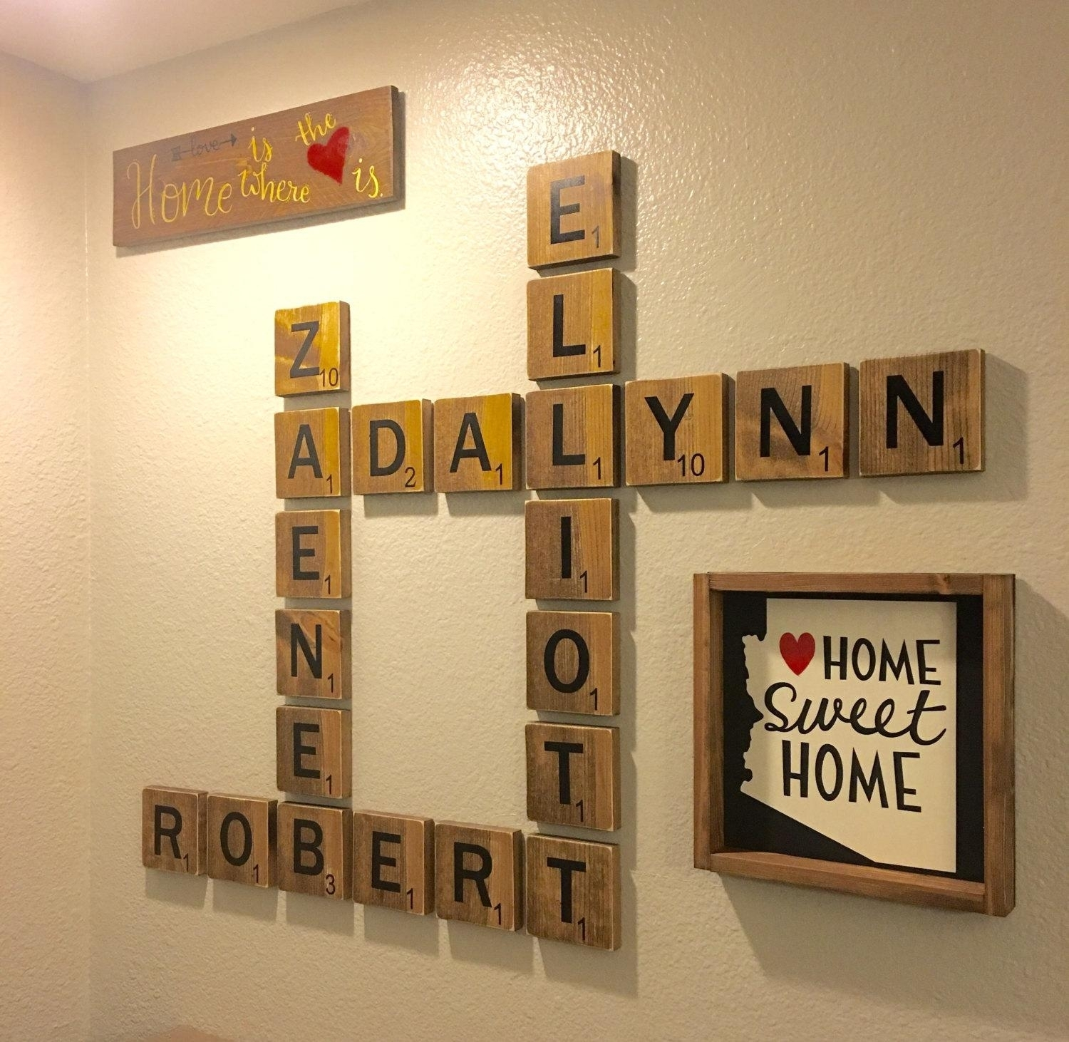 Free Shipping For A Limited Time Wooden Scrabble Tiles For Scrabble In Scrabble Wall Art (View 4 of 20)