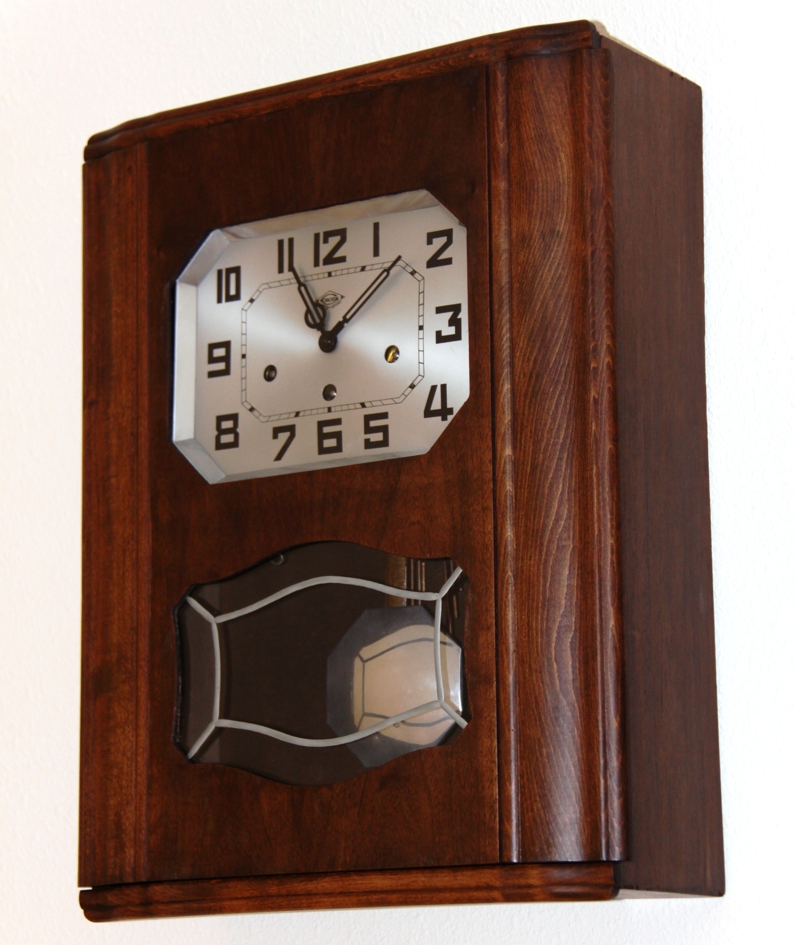 French Irod Clock. Two Chime, Art Deco Wall Clock - Due Time Clock Blog with regard to Art Deco Wall Clock (Image 12 of 20)
