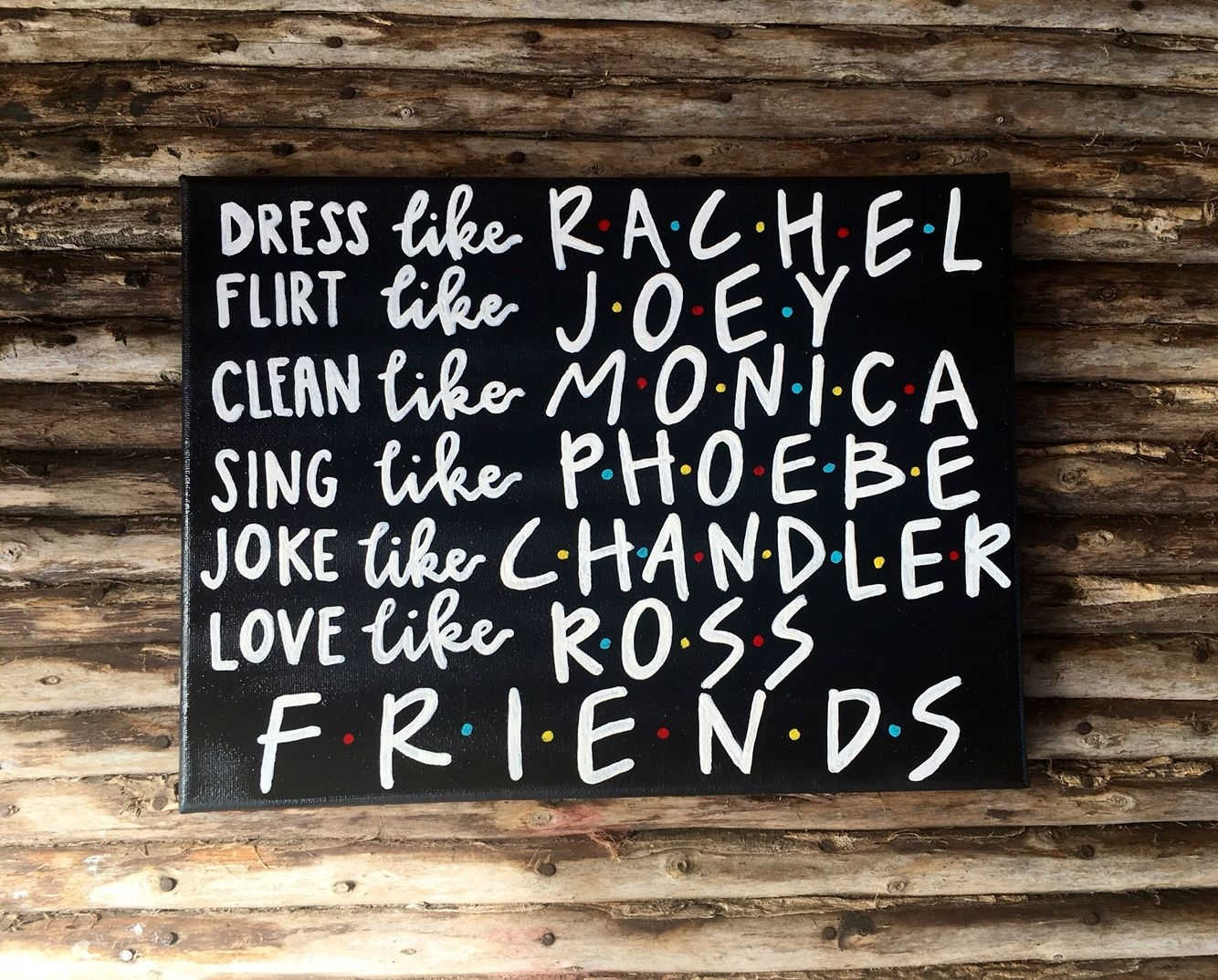 Friends Tv Show Canvas Art /rachel/monica/phoebe/joey/chandler/ross For Ross Wall Art (View 17 of 20)