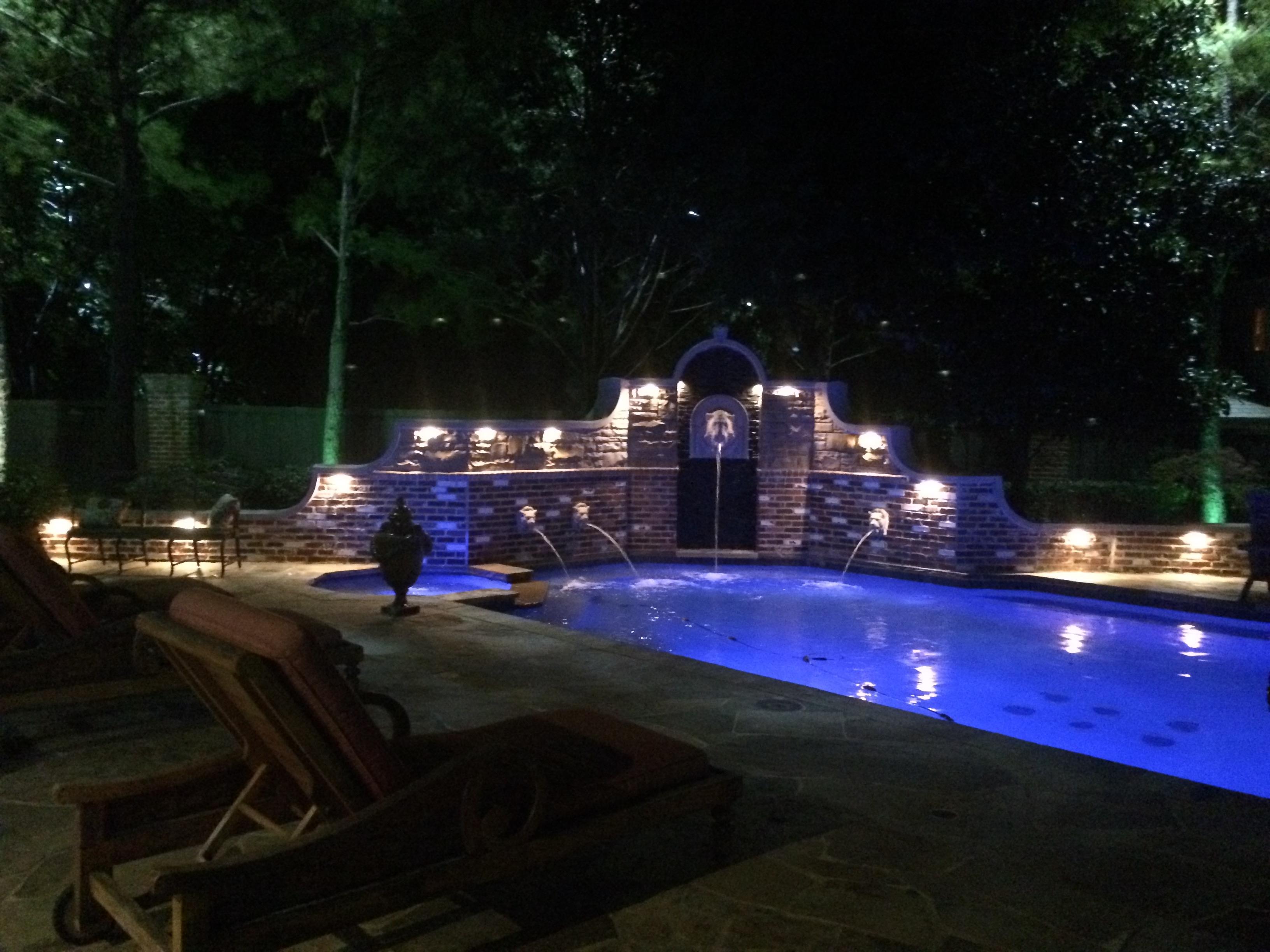 Frisco Landscape Lighting | Dallas Landscape Lighting inside Outdoor Lanterns for Poolside (Image 5 of 20)