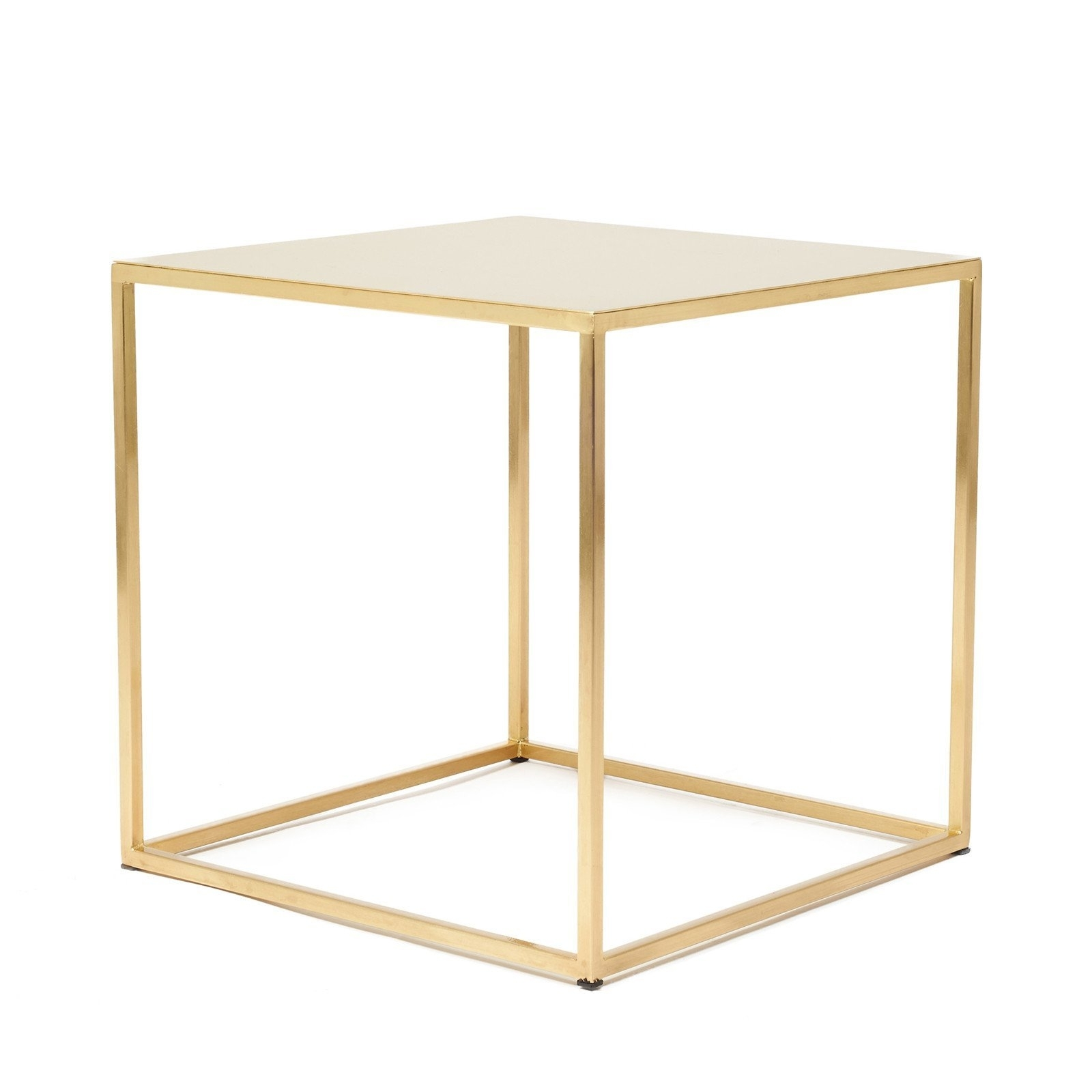 Frisco Satin Brass Cube Side Tablepatrick Cain Designs | Satin with regard to Brass Iron Cube Tables (Image 15 of 30)