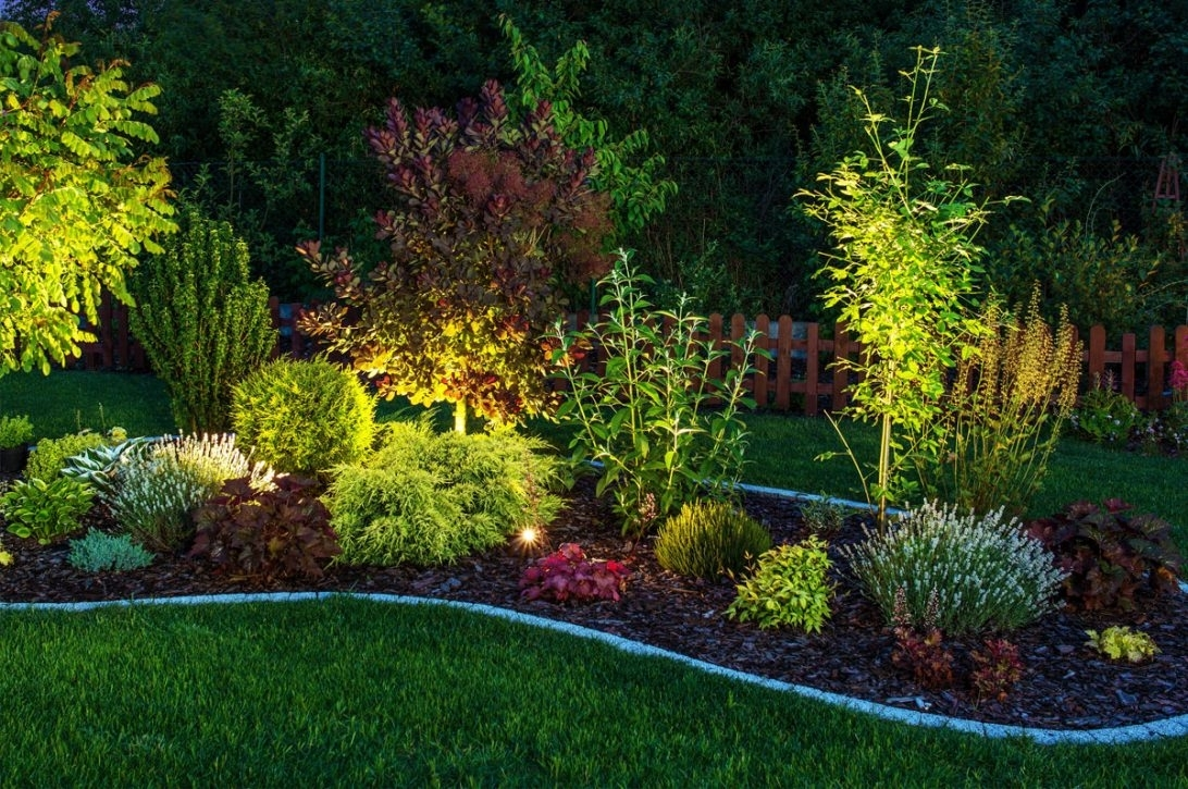 Front Yard Landscape Lighting Ideas Outdoor Design Beautiful Iwoo within Outdoor Landscape Lanterns (Image 7 of 20)