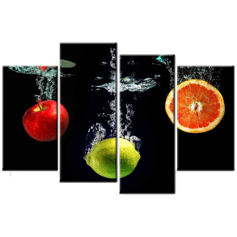 Fruit Splash Kitchen Canvas Picture Print Wall Art: Amazon.co (View 3 of 20)