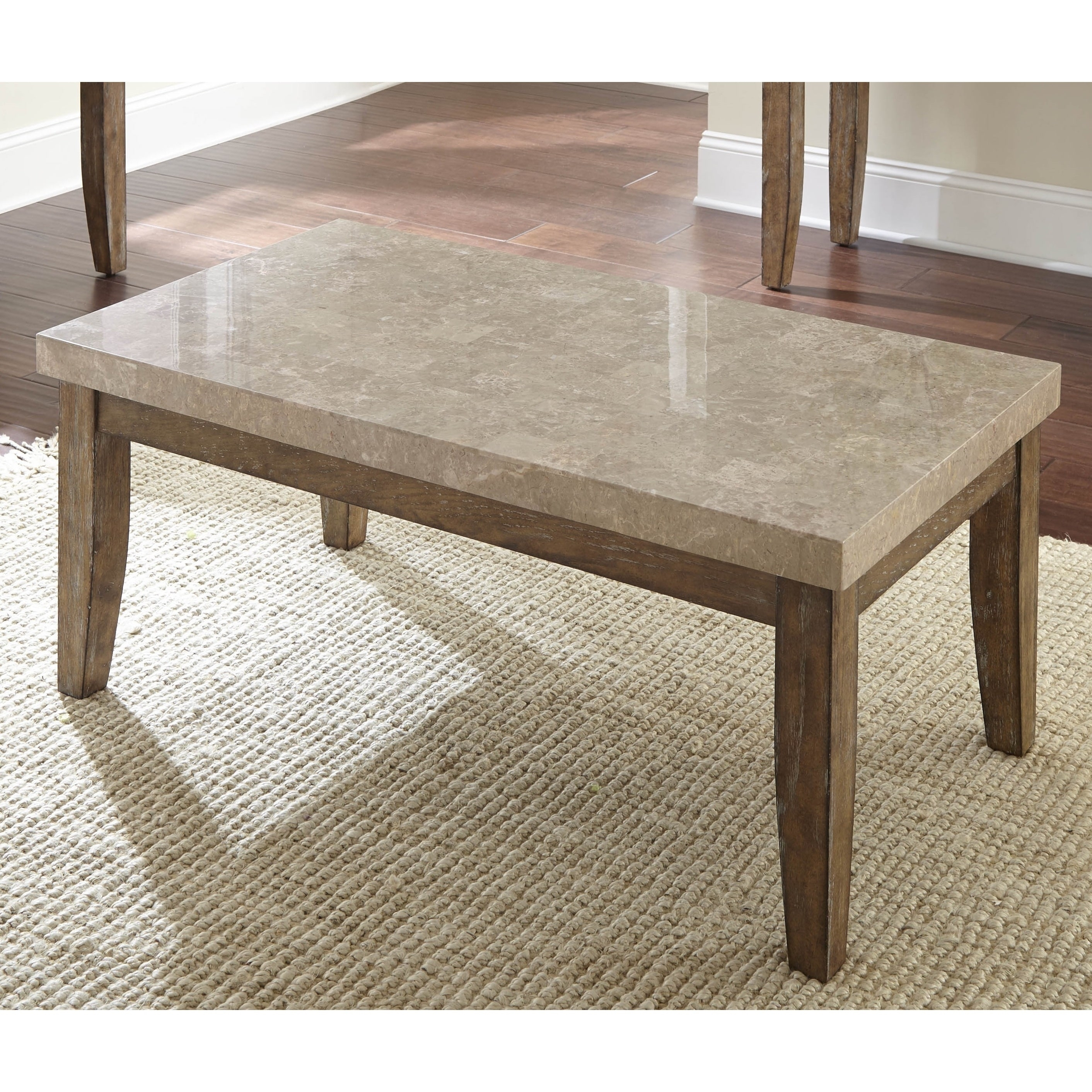 Fulham Marble Top Coffee Tablegreyson Living - Free Shipping regarding Element Ivory Rectangular Coffee Tables (Image 8 of 30)