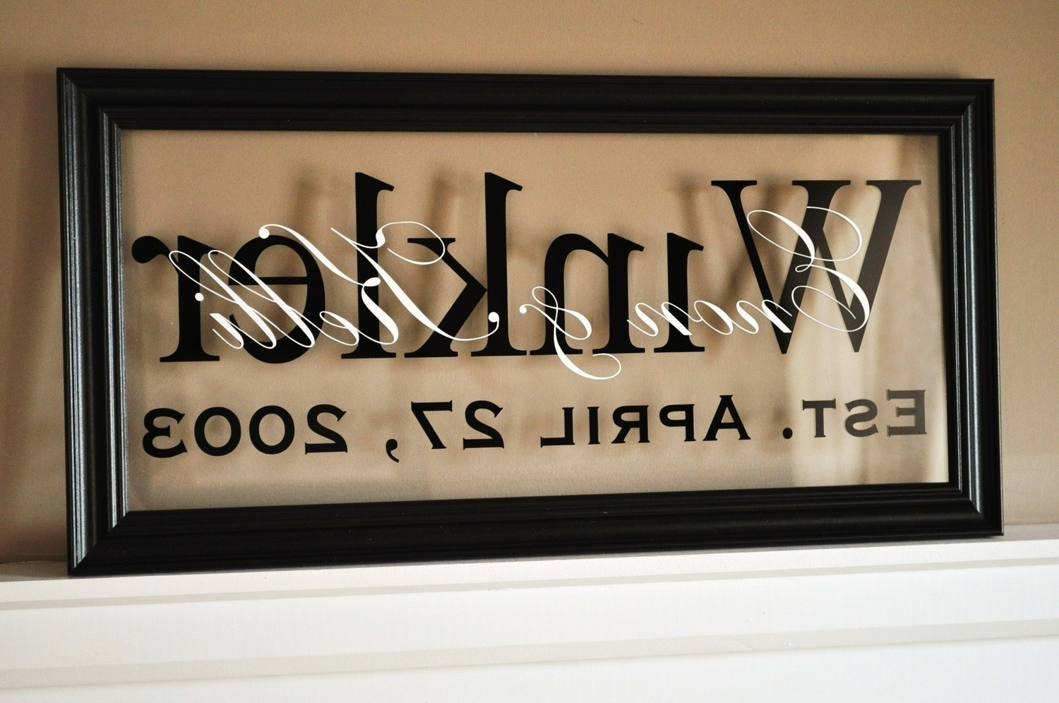 Fun Personalized Last Name Wall Art Room Decorating Ideas 15 Photos With Family Name Wall Art (View 8 of 20)
