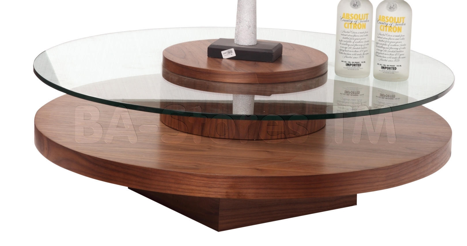 Furniture. Lovable Revere Round Coffee Table With Rotating Top In pertaining to Spin Rotating Coffee Tables (Image 10 of 30)
