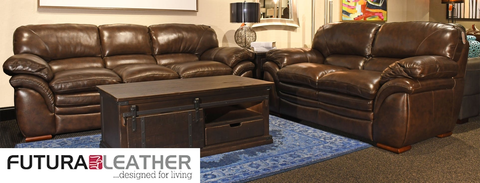 Futura Leather Furniture | Bob Mills Furniture in Mill Large Leather Coffee Tables (Image 18 of 30)