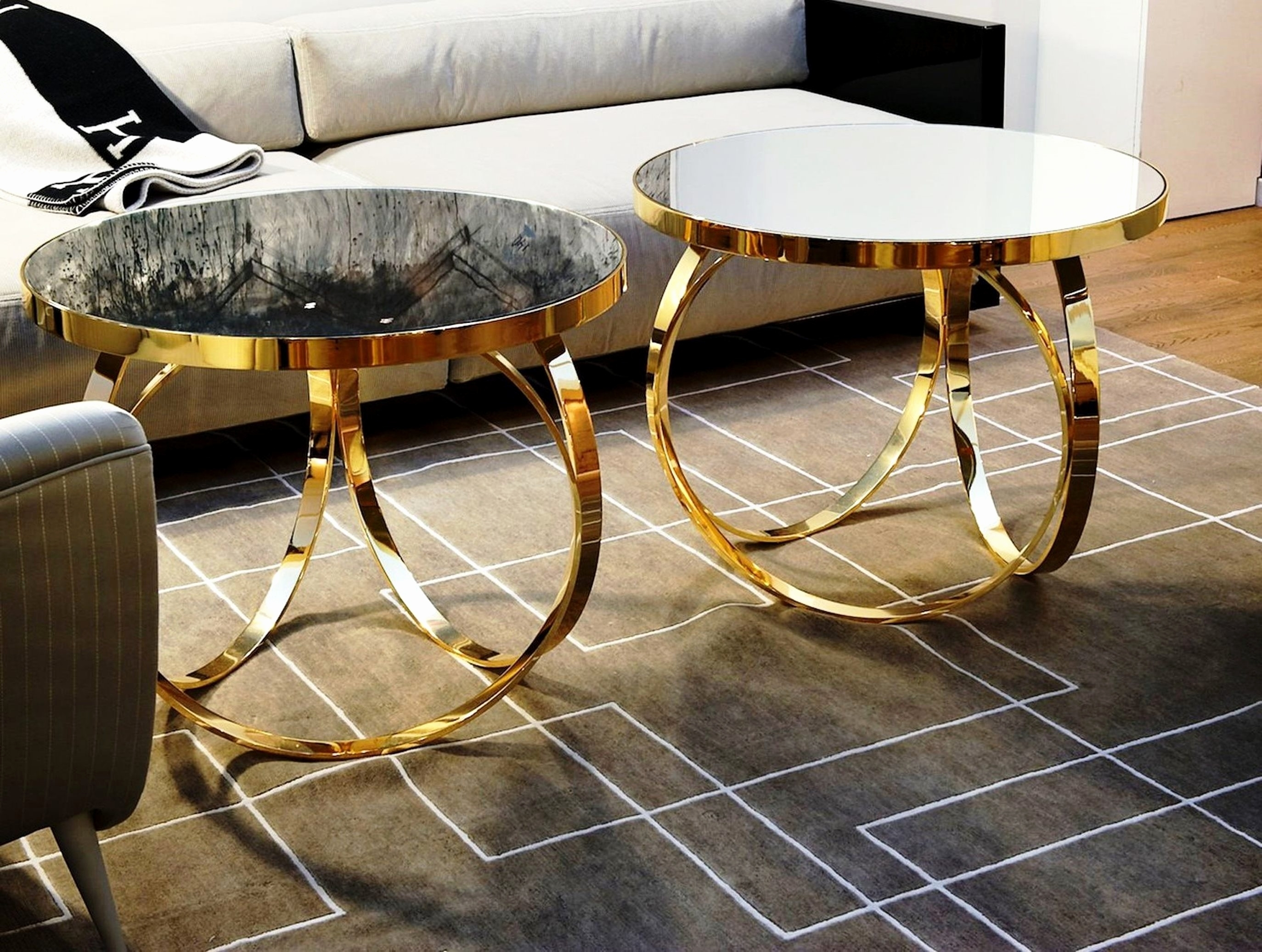 Gallery: Gold Coffee Table Set, - Longfabu in Cuff Hammered Gold Coffee Tables (Image 5 of 30)