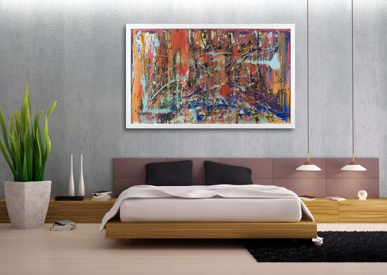 Gallery Large Modern Canvas Wall Art Viewing Abstract Artwork For with Modern Large Canvas Wall Art (Image 16 of 20)