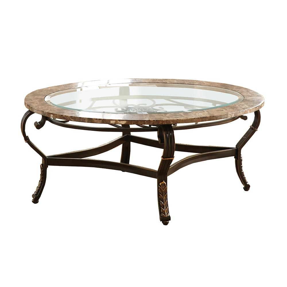 Gallinari Spanish Brown Marble Cocktail Table Gn300C – The Home Depot Intended For Spanish Coffee Tables (View 12 of 30)