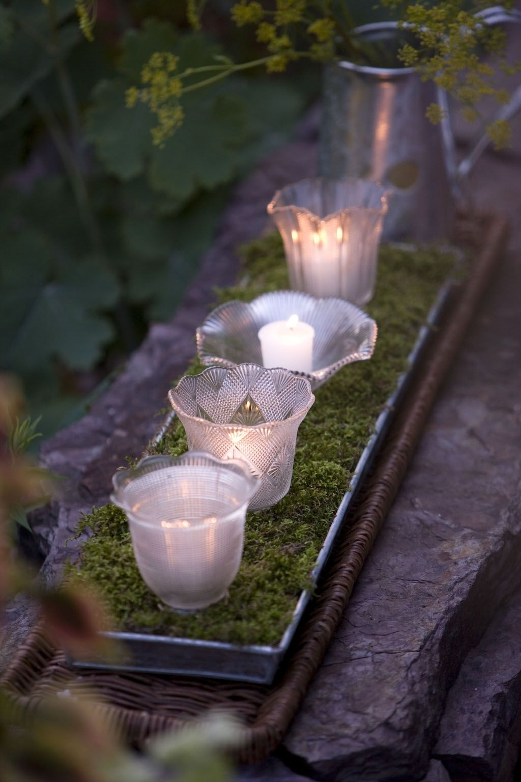 Garden Light | Outdoor Party Ideas | Pinterest | Glass Shades Pertaining To Outdoor Lanterns And Votives (View 7 of 20)