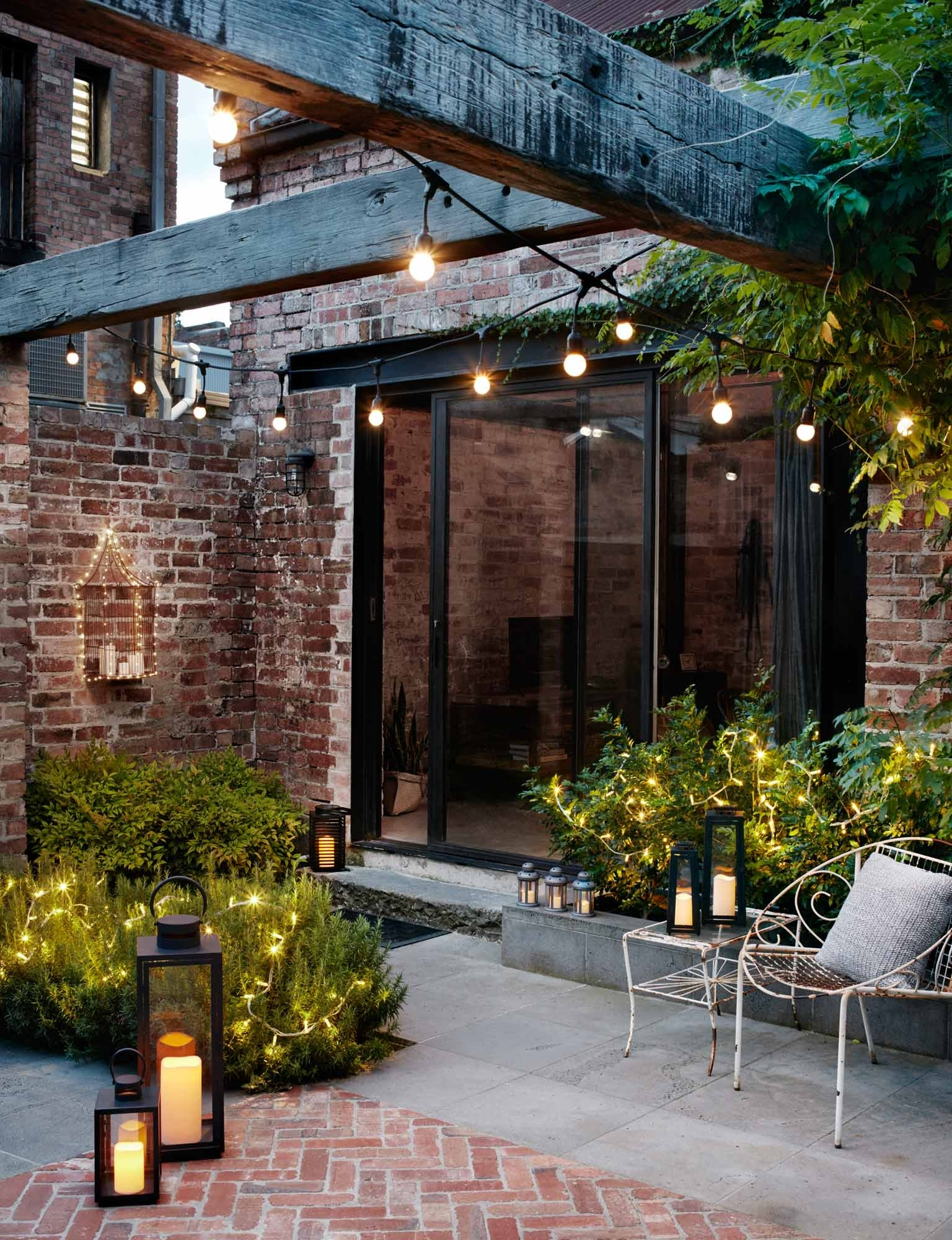 Garden Lighting Ideas | Inspiration | Lights4Fun.co.uk in Outdoor Gazebo Lanterns (Image 8 of 20)