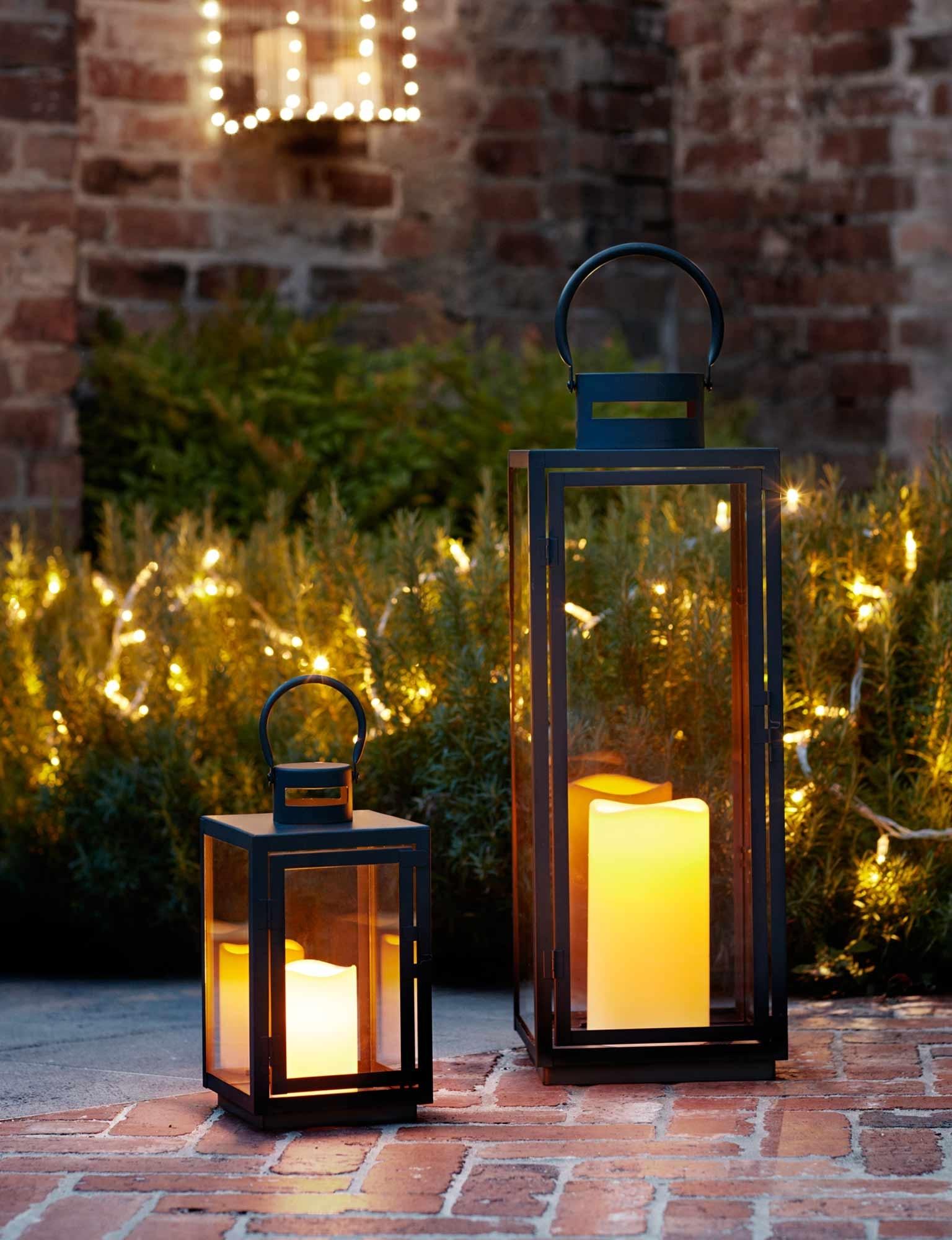 Garden Lighting Ideas | Inspiration | Lights4Fun.co.uk inside Outdoor Ground Lanterns (Image 5 of 20)