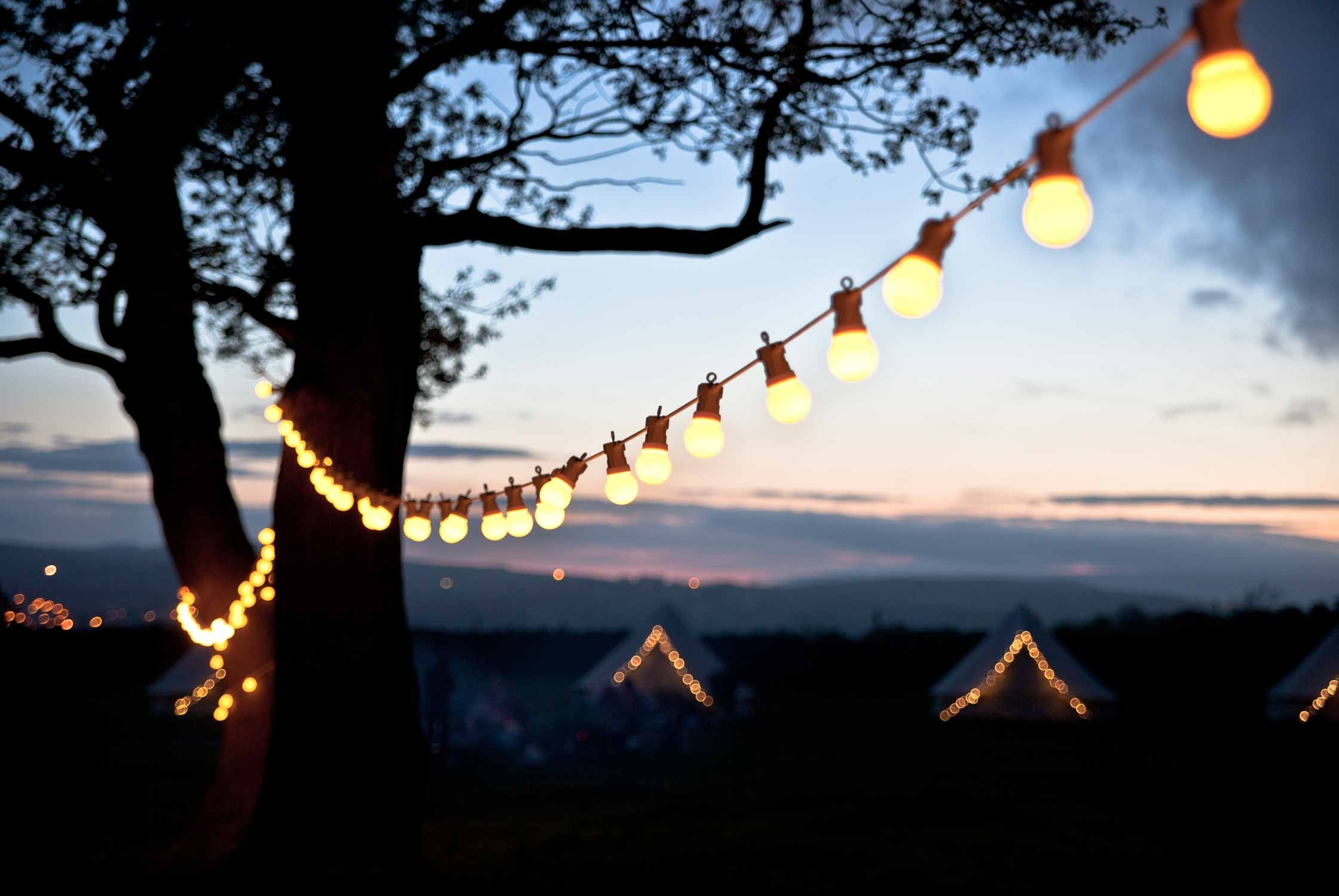 Garden Lighting Ideas | Inspiration | Lights4Fun.co.uk intended for Outdoor Lanterns for Trees (Image 8 of 20)