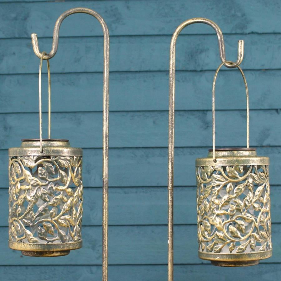 Garden Lights And Lanterns | Notonthehighstreet throughout Blue Outdoor Lanterns (Image 11 of 20)