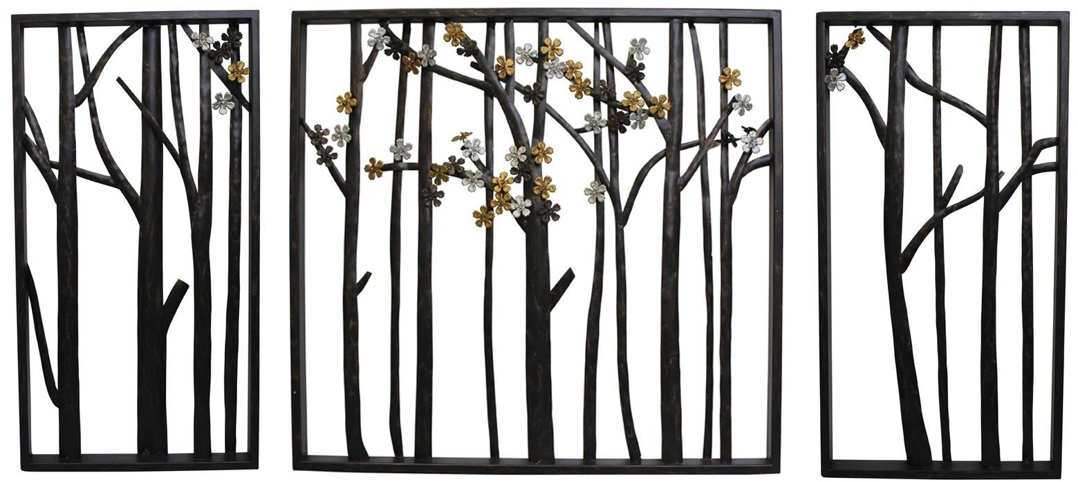 Garden Wall Plaques Outdoor Outside Wall Art Decor Large Wall With in Outdoor Metal Wall Art (Image 8 of 20)