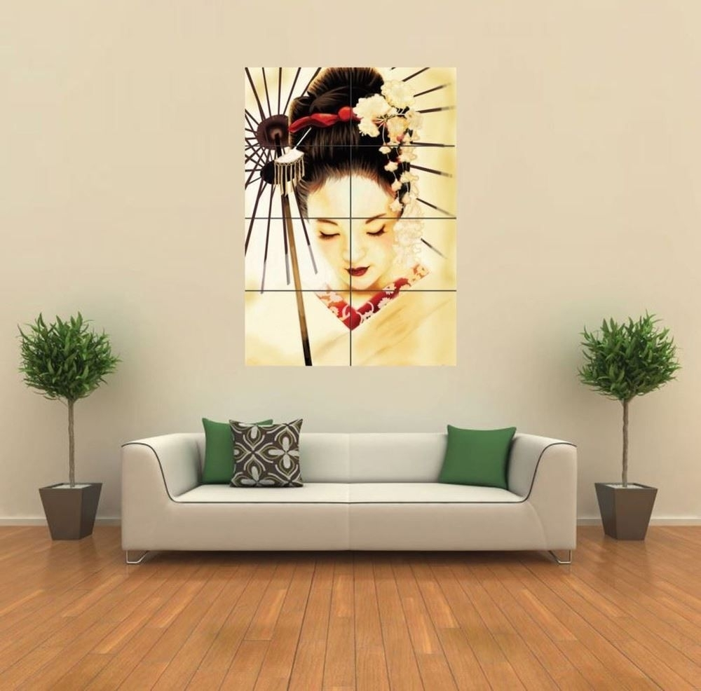 Geisha Japanese New Giant Poster Wall Art Print Picture G347 | Print with Japanese Wall Art (Image 4 of 20)