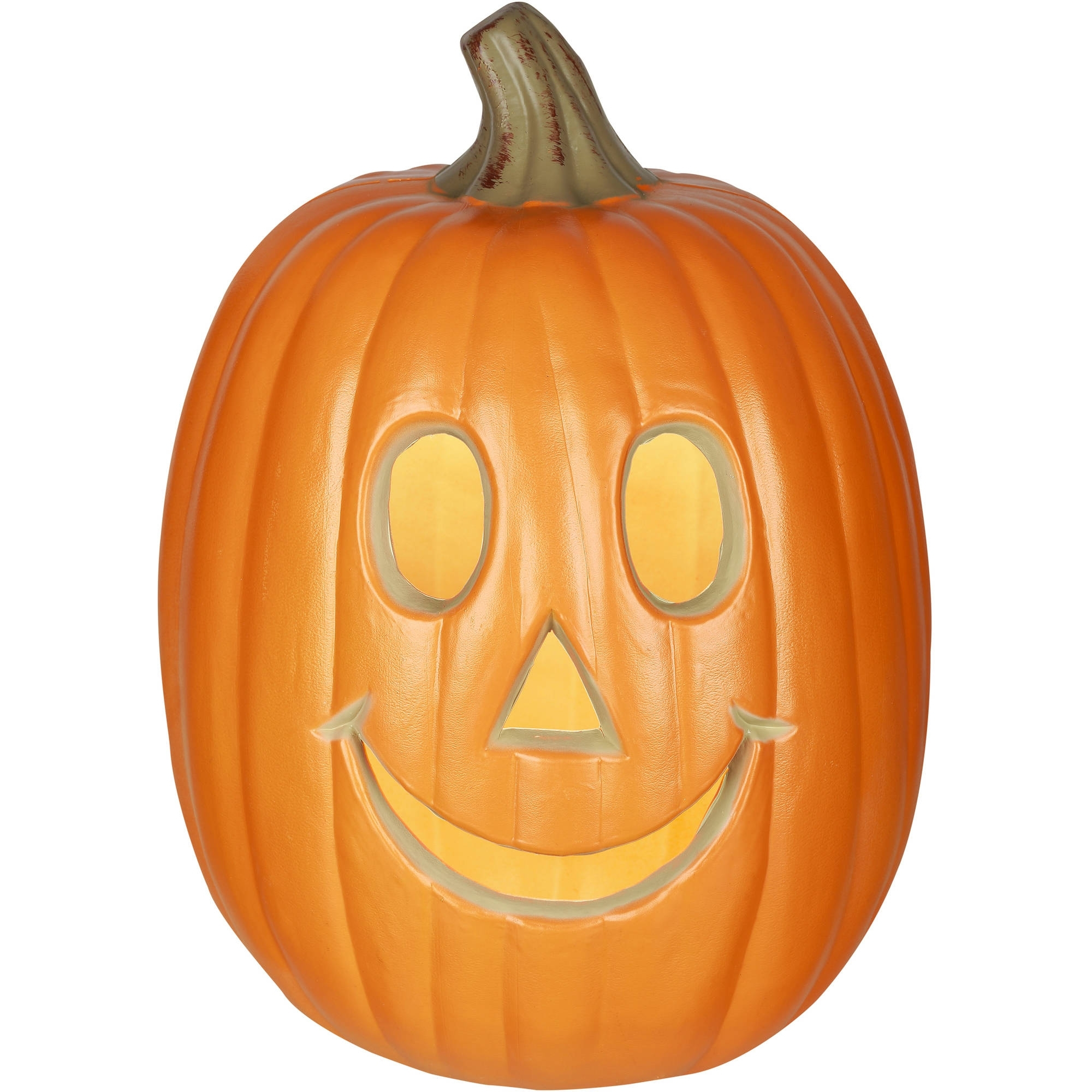 "Gemmy Lighted Jack-O-Lantern 12"" Happy Pumpkin Halloween Decoration intended for Outdoor Pumpkin Lanterns (Image 11 of 20)"