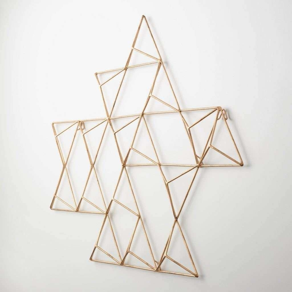 Geometric Metal Wall Art New 15 Ideas Of Abstract Geometric Metal For Geometric Metal Wall Art (View 7 of 20)
