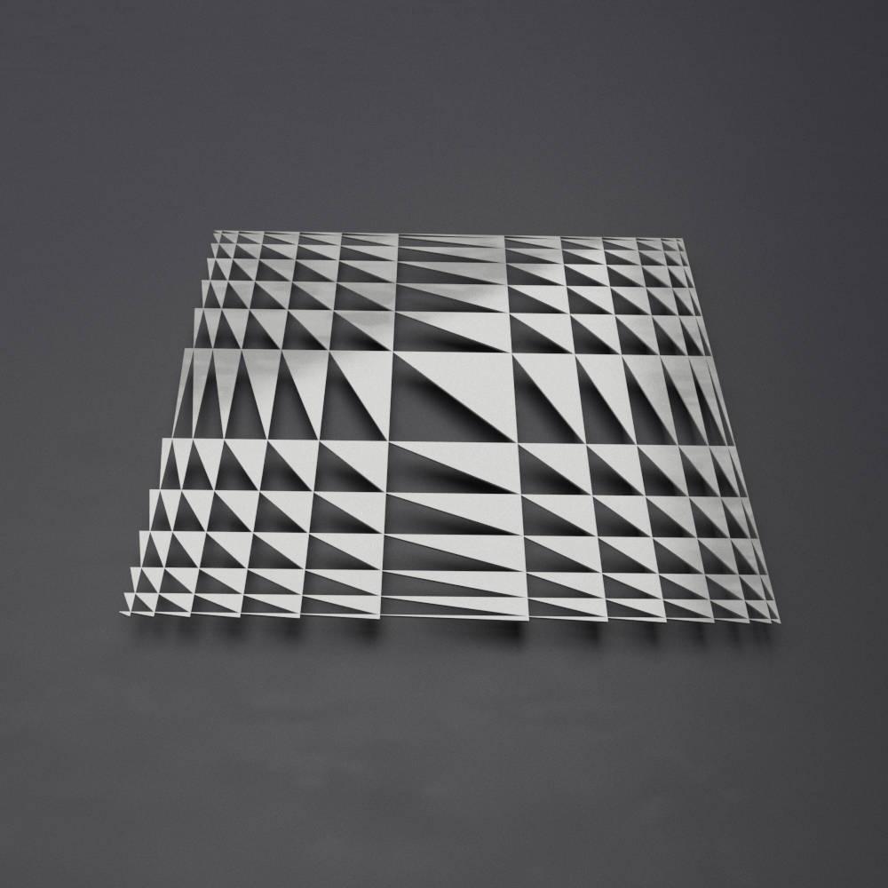 Geometric Metal Wall Sculpture, Modern Metal Wall Art, Square Inside Geometric Metal Wall Art (View 18 of 20)
