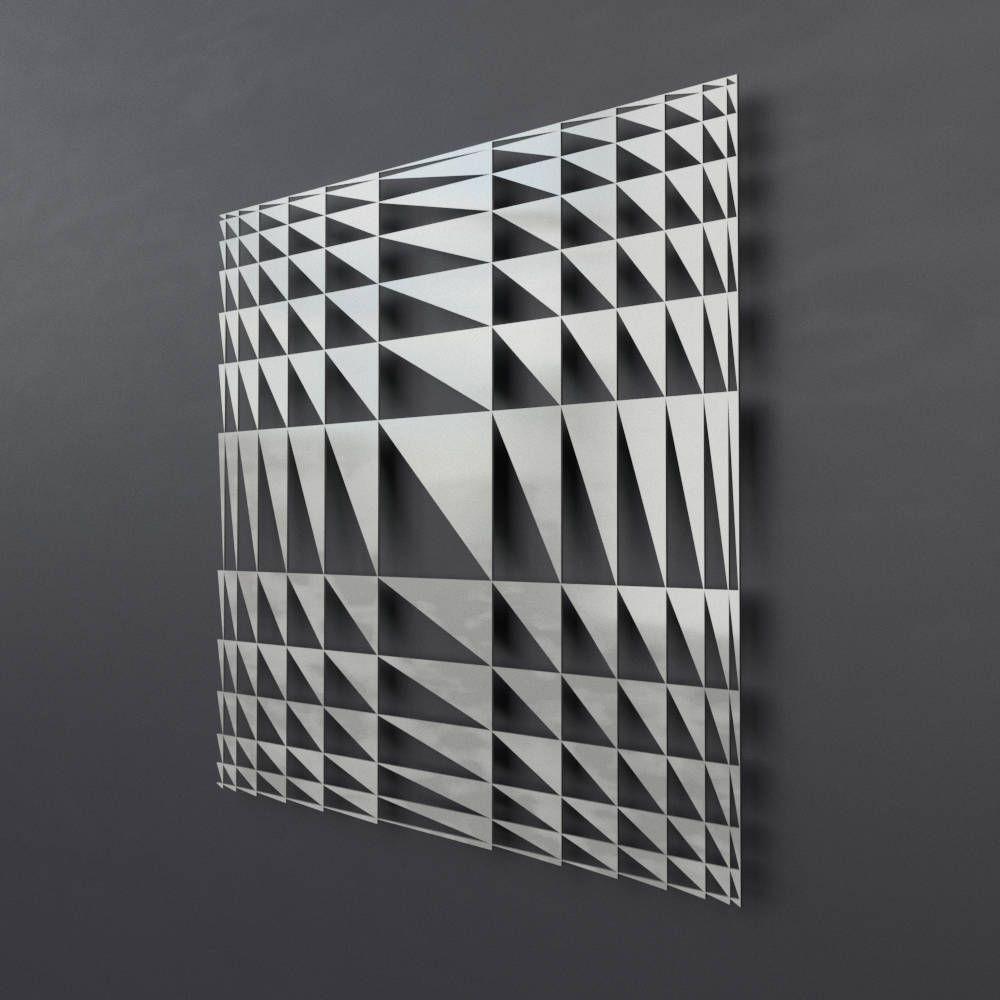 Geometric Metal Wall Sculpture, Modern Metal Wall Art, Square Regarding Geometric Metal Wall Art (View 5 of 20)