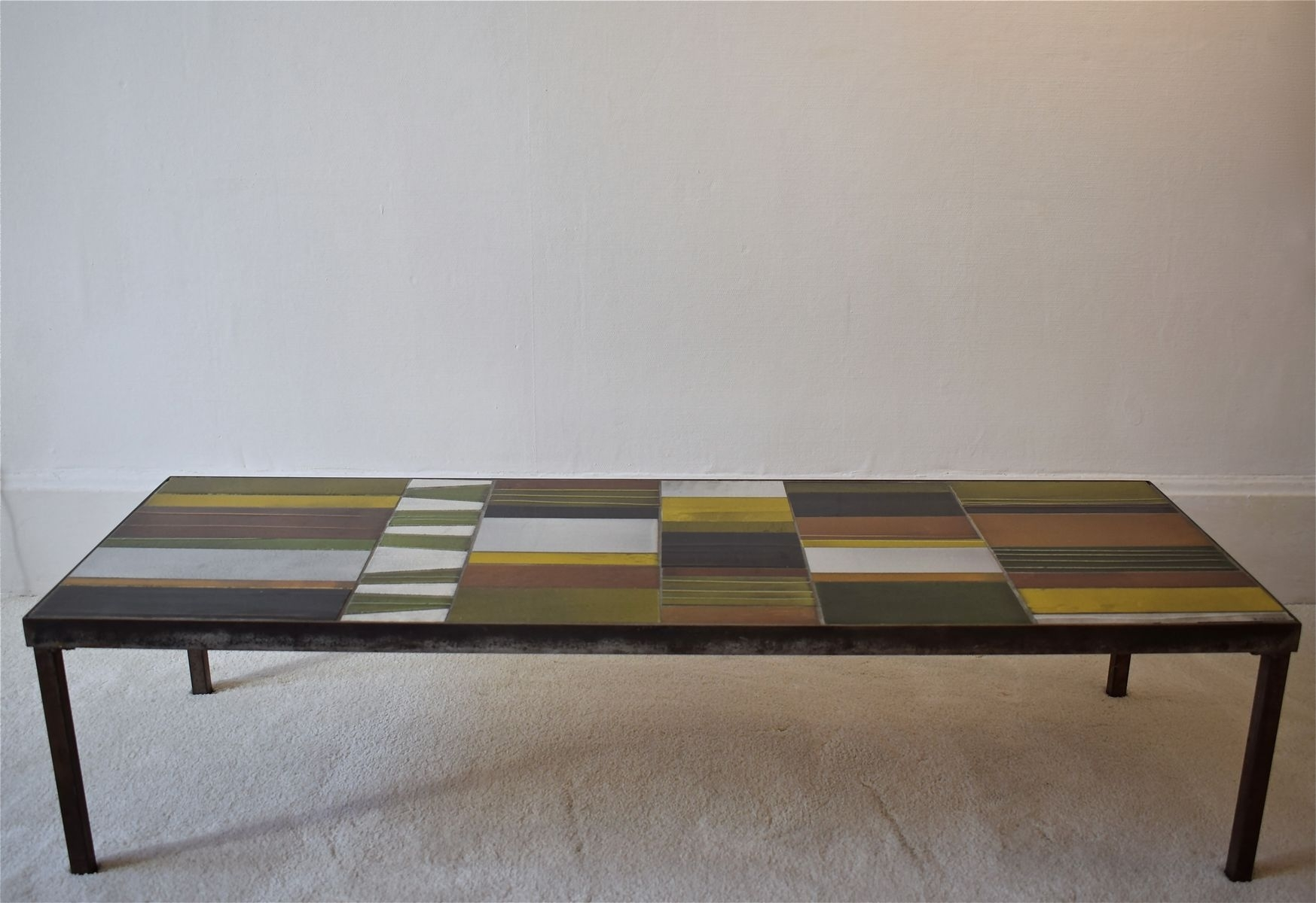 Geometrical Coffee Tableroger Capron For Sale At Pamono regarding Expressionist Coffee Tables (Image 14 of 30)