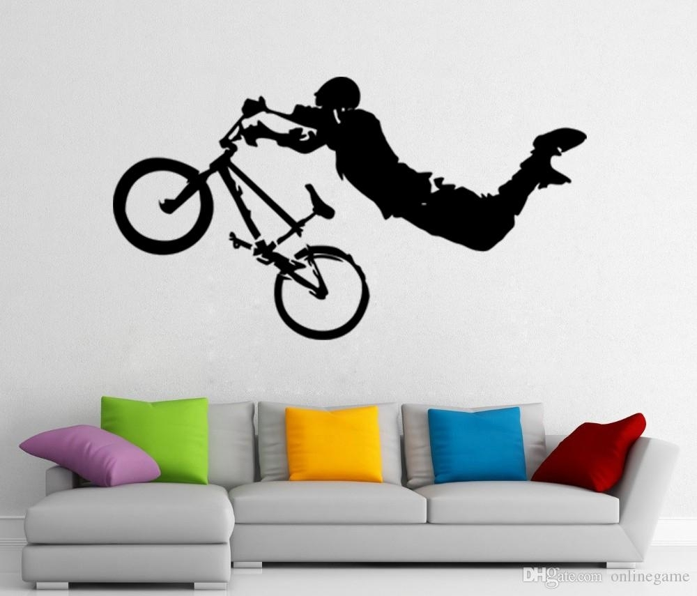 Giant Bmx Bike Bicycle Sport Wall Art Decor Vinyl Wall Sticker Decal Pertaining To Sports Wall Art (View 16 of 20)
