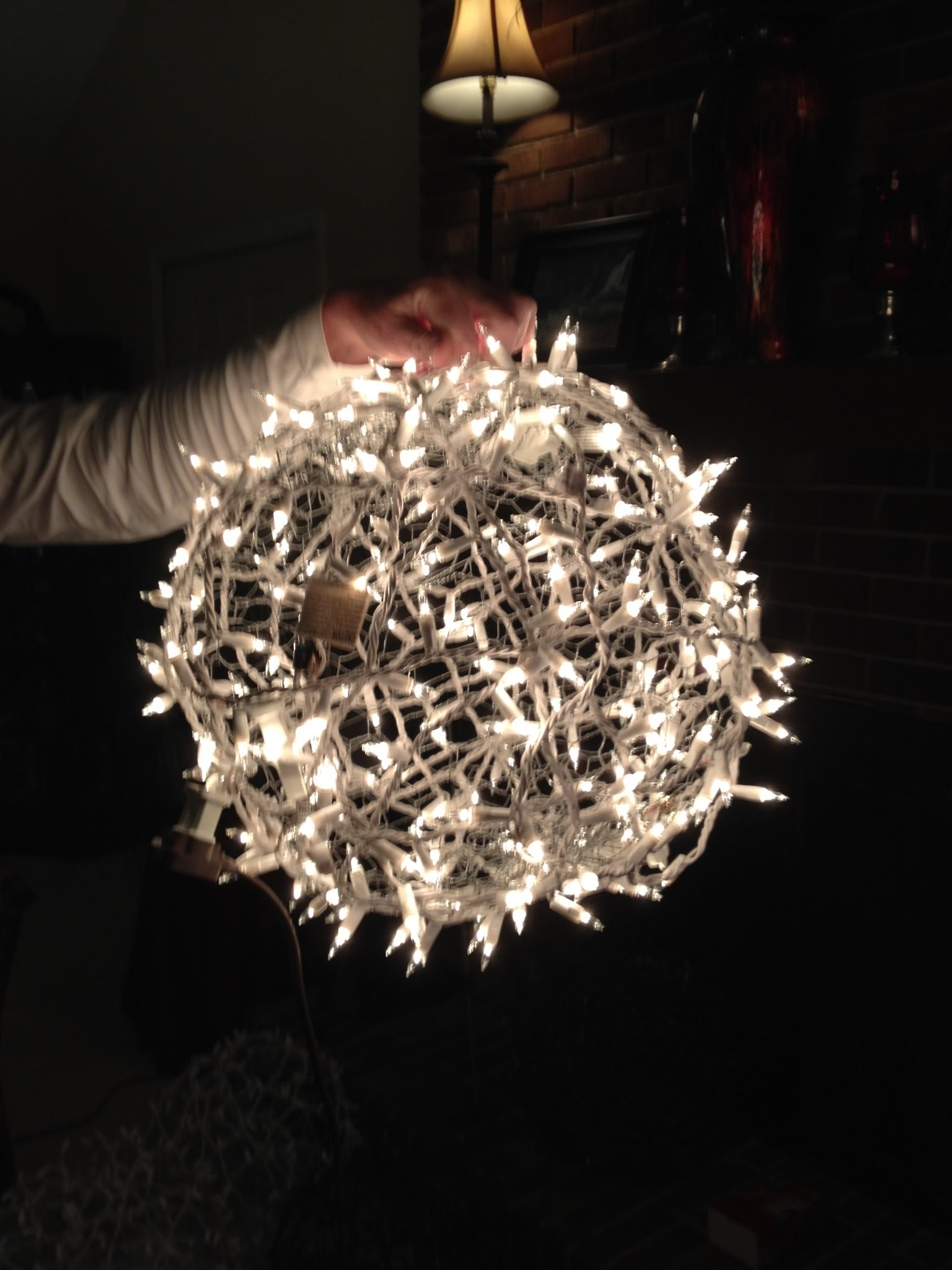 Giant Lighted Christmas Balls - How To Hang Them On A Tree - Youtube for Outdoor Ball Lanterns (Image 5 of 20)