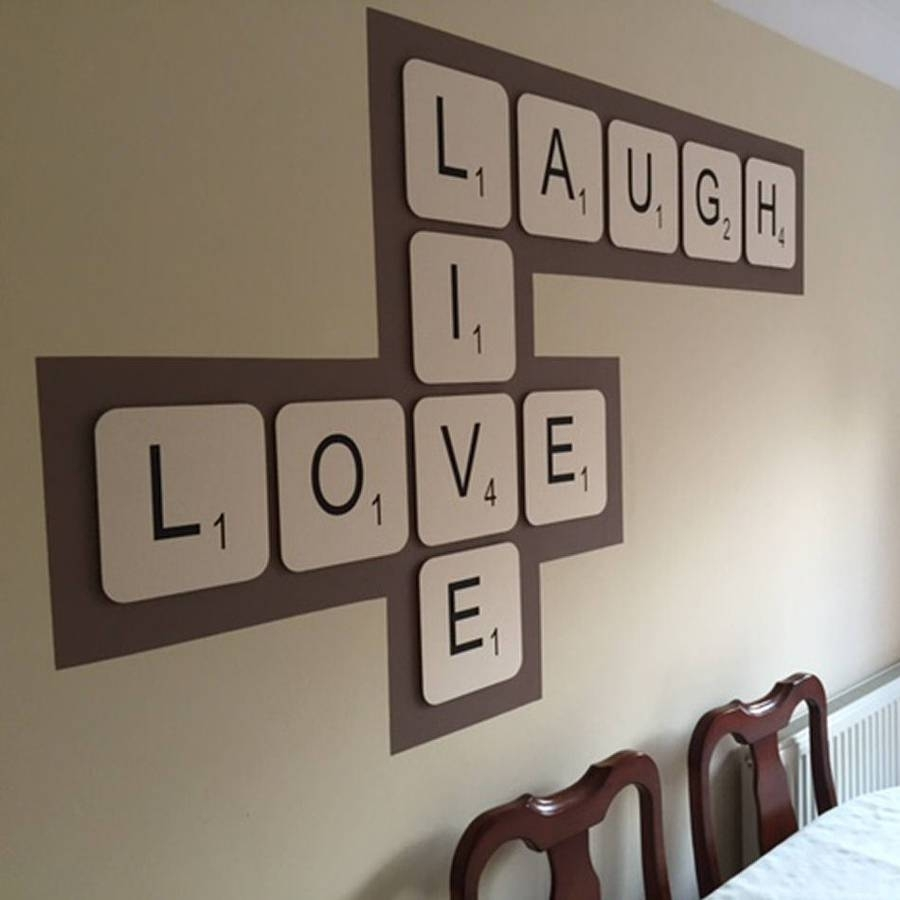 Giant Scrabble Wall Lettercopperdot, Large Letter Wall Art – The In Scrabble Wall Art (View 6 of 20)