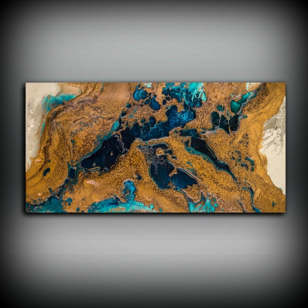 Giclee Abstract Fine Art Print From Original Acrylic Abstract in Copper Wall Art (Image 14 of 20)