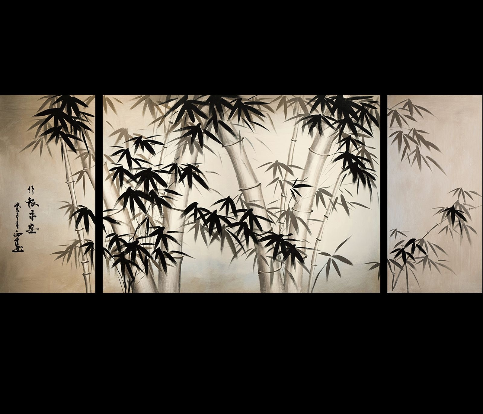 Giclee Artwork Canvas Art Fine Art Prints Wall Art Japanese Bamboo inside Japanese Wall Art (Image 5 of 20)