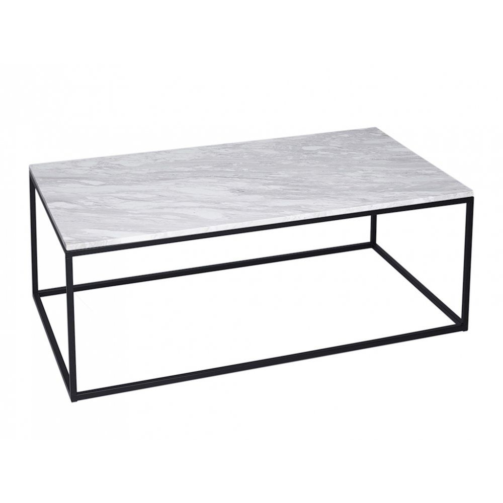 Gillmore Space White Marble And Black Metal Contemporary Rectangular With Smart Round Marble Brass Coffee Tables (View 15 of 30)