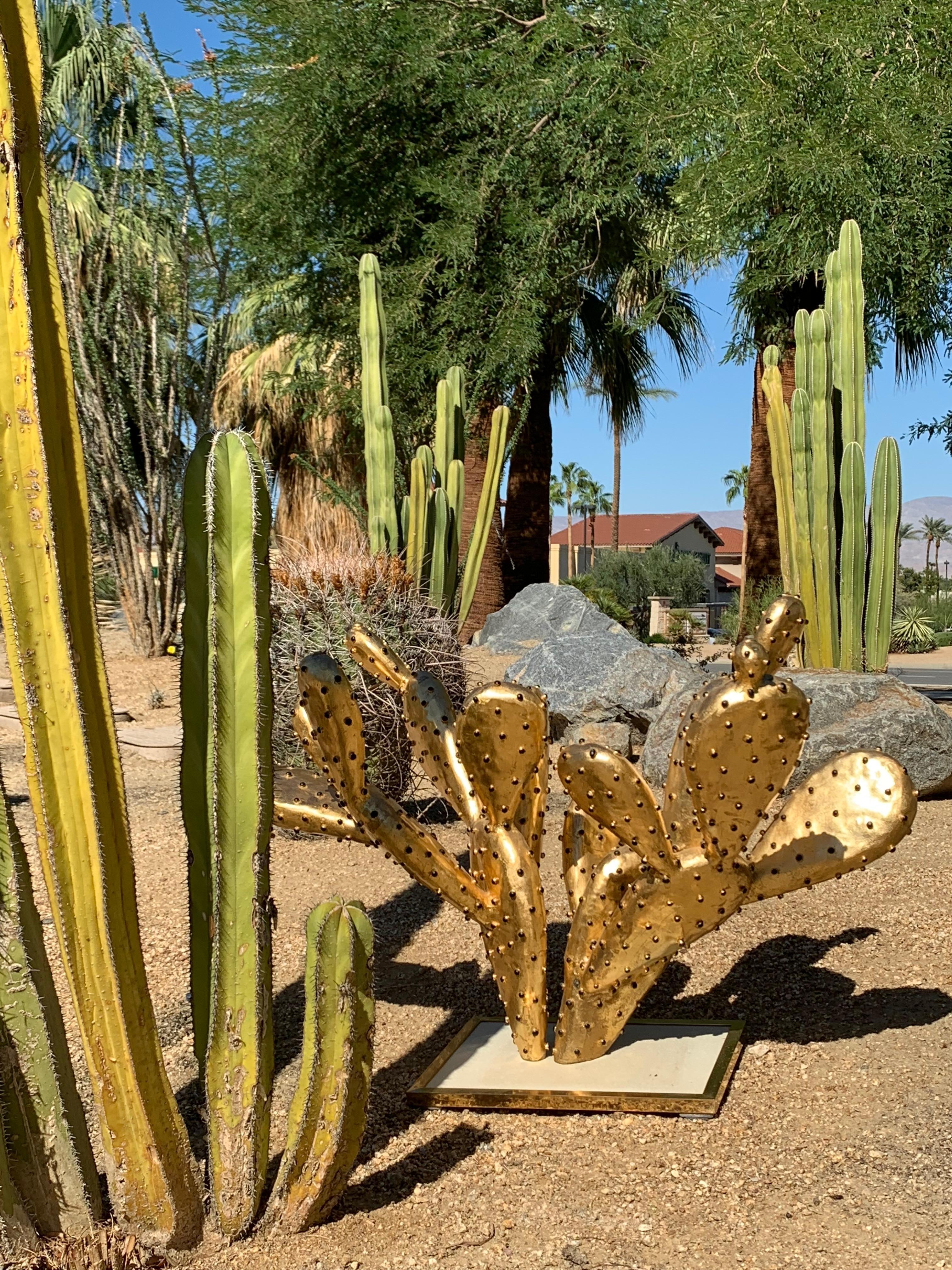 "Gilt Brass Cactus Coffee Table ""amalfi""alain Chervet For Sale At inside Cacti Brass Coffee Tables (Image 14 of 30)"