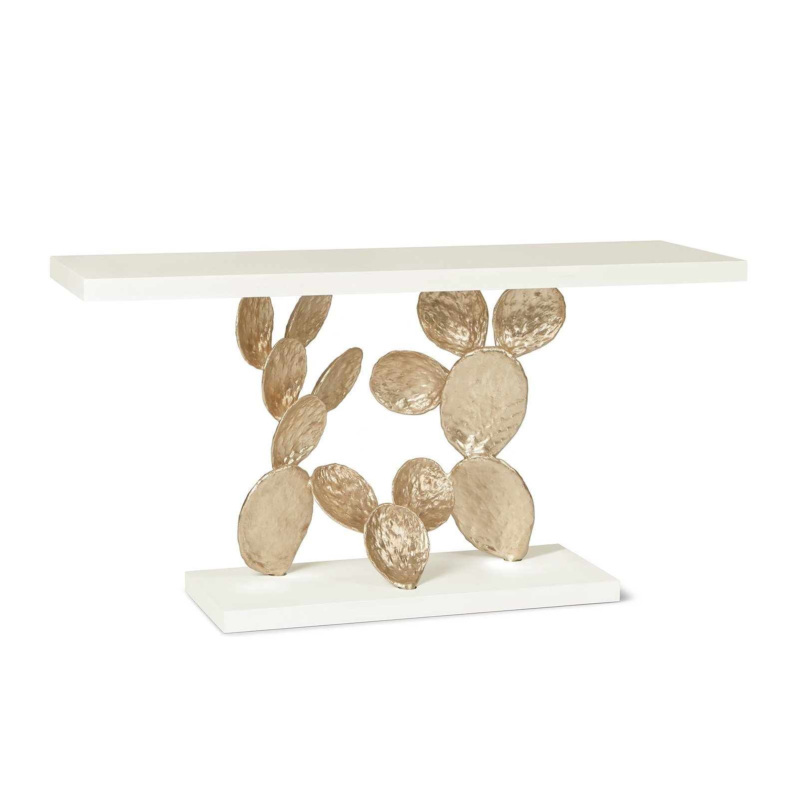 Ginger & Jagger Cactus Console | Shop Now for Cacti Brass Coffee Tables (Image 15 of 30)