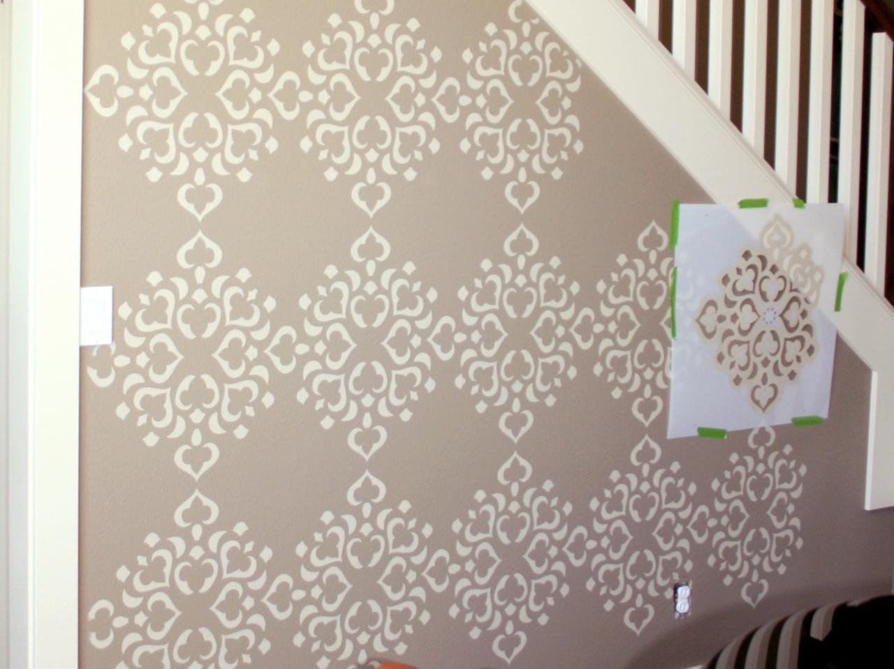 Give Your Home A Dramatic Look With The Help Of Wall Stencils Pertaining To Stencil Wall Art (View 11 of 20)