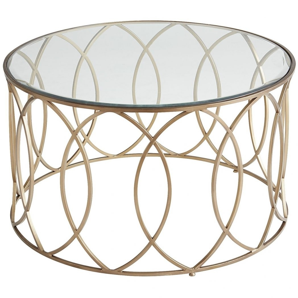 Glass And Iron Round Metal Coffee Table All For Frame Vintage Brass with Brass Iron Cube Tables (Image 17 of 30)