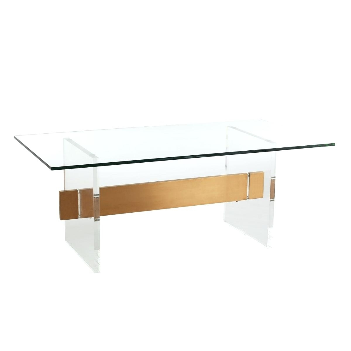 Glass Brass Coffee Table Acrylic Brushed Brass Coffee Table Glass pertaining to Acrylic & Brushed Brass Coffee Tables (Image 12 of 20)