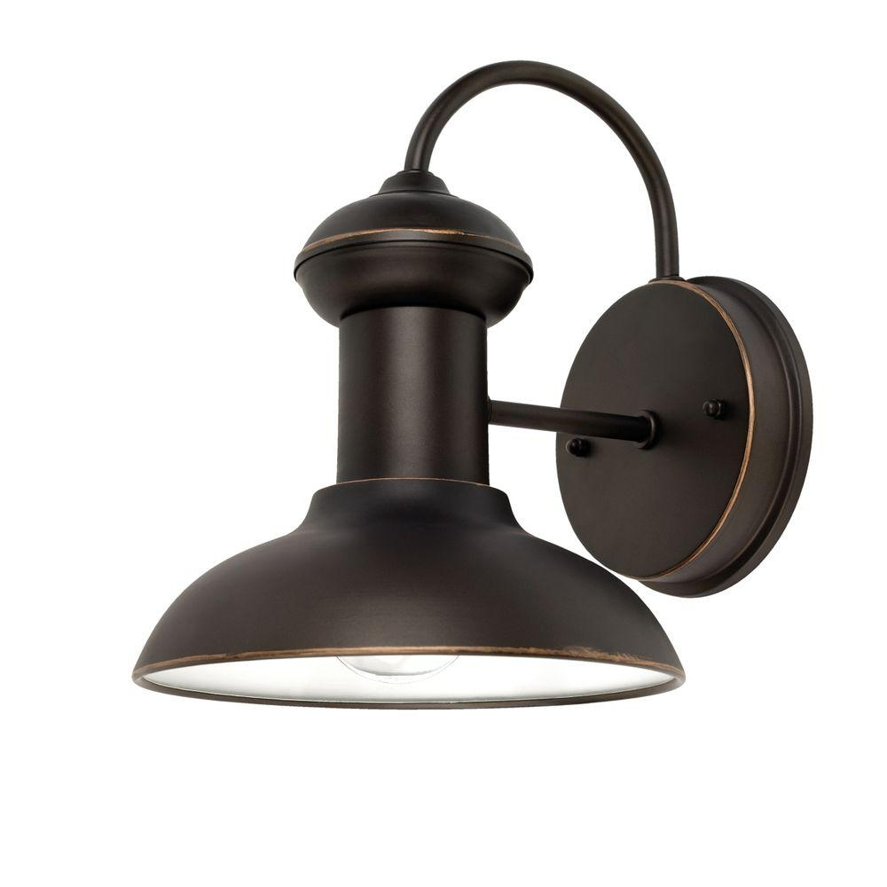 Globe Electric Martes 10 In. Oil Rubbed Bronze Downward Indoor throughout Outdoor Electric Lanterns (Image 7 of 20)