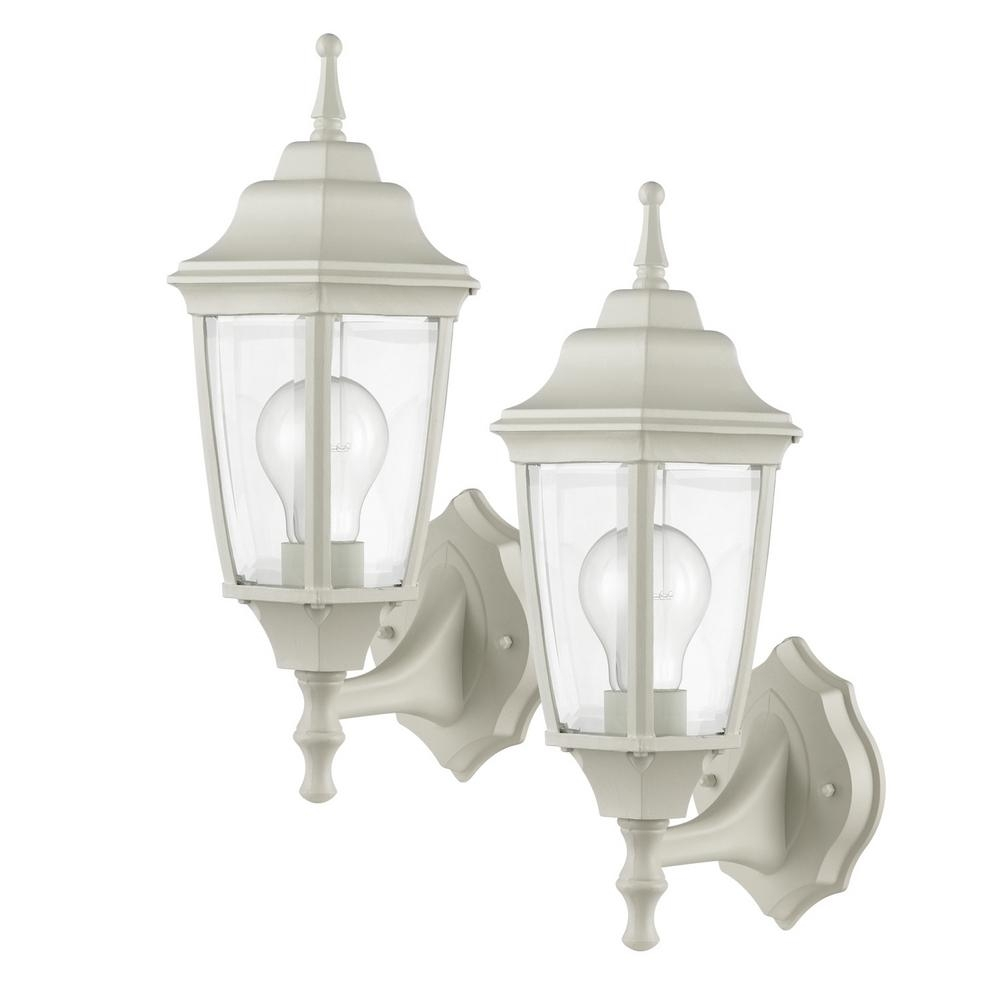 Globe Electric Oxford Light Matte White And Clear Glass Outdoor with Outdoor Lanterns Without Glass (Image 9 of 20)