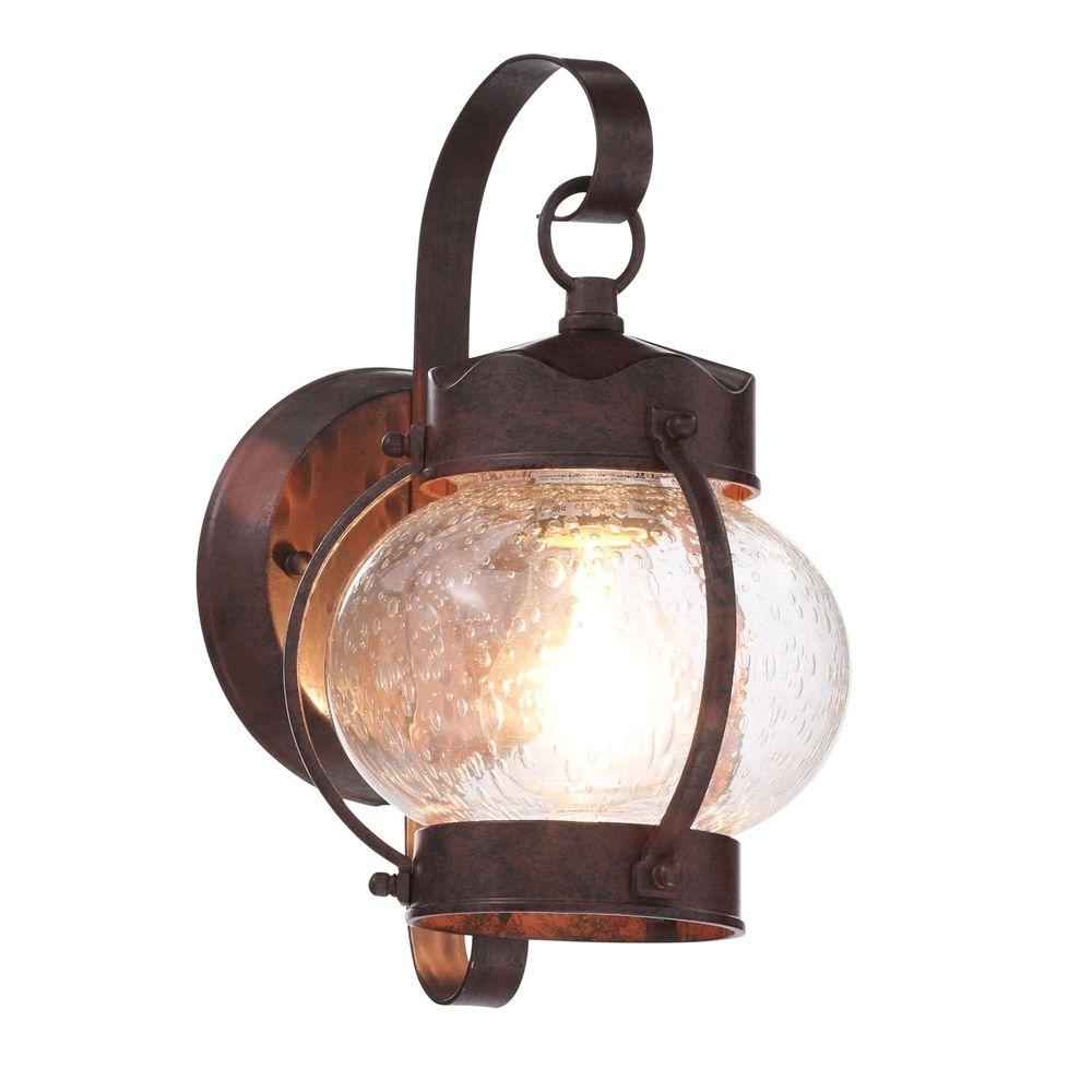 Glomar 1-Light Old Bronze Outdoor Onion Wall Mount Lantern With with Antique Outdoor Lanterns (Image 7 of 20)