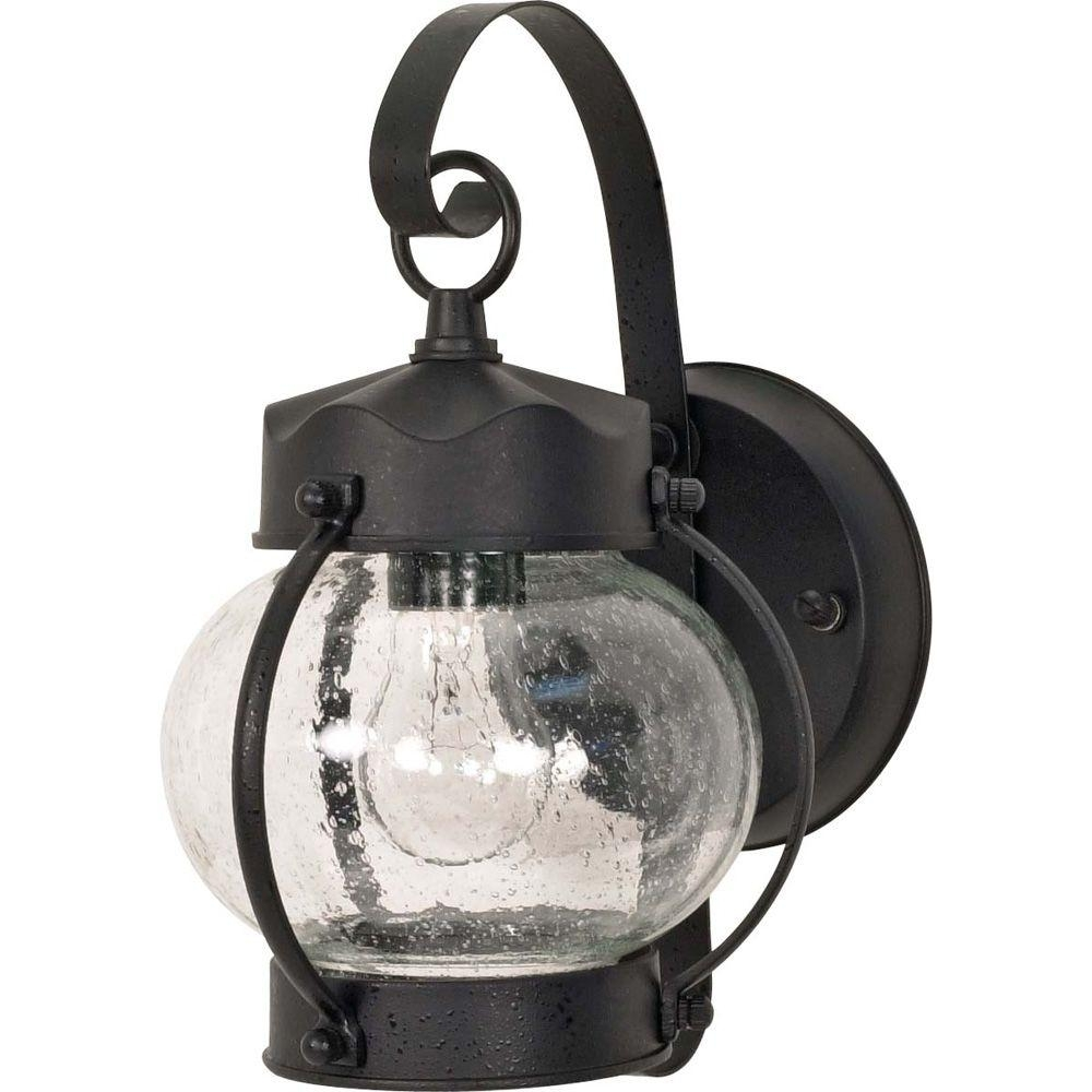 Glomar 1-Light Outdoor Textured Black Wall Lantern Onion Lantern for Outdoor Lighting Onion Lanterns (Image 6 of 20)