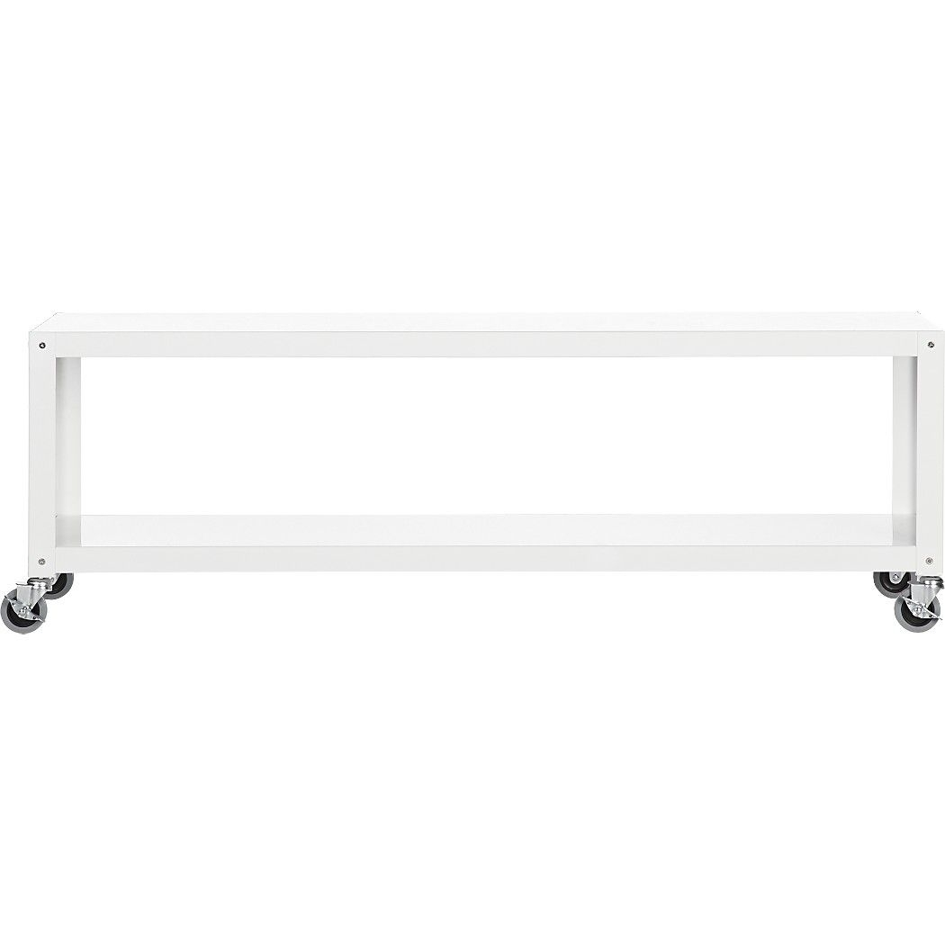 Go-Cart White Rolling Media Console | Home Diy | Pinterest | Blank inside Go-Cart White Rolling Coffee Tables (Image 16 of 30)