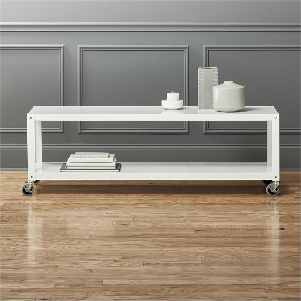 Go-Cart White Rolling Media Console | Products | Pinterest | Tv within Go-Cart White Rolling Coffee Tables (Image 17 of 30)